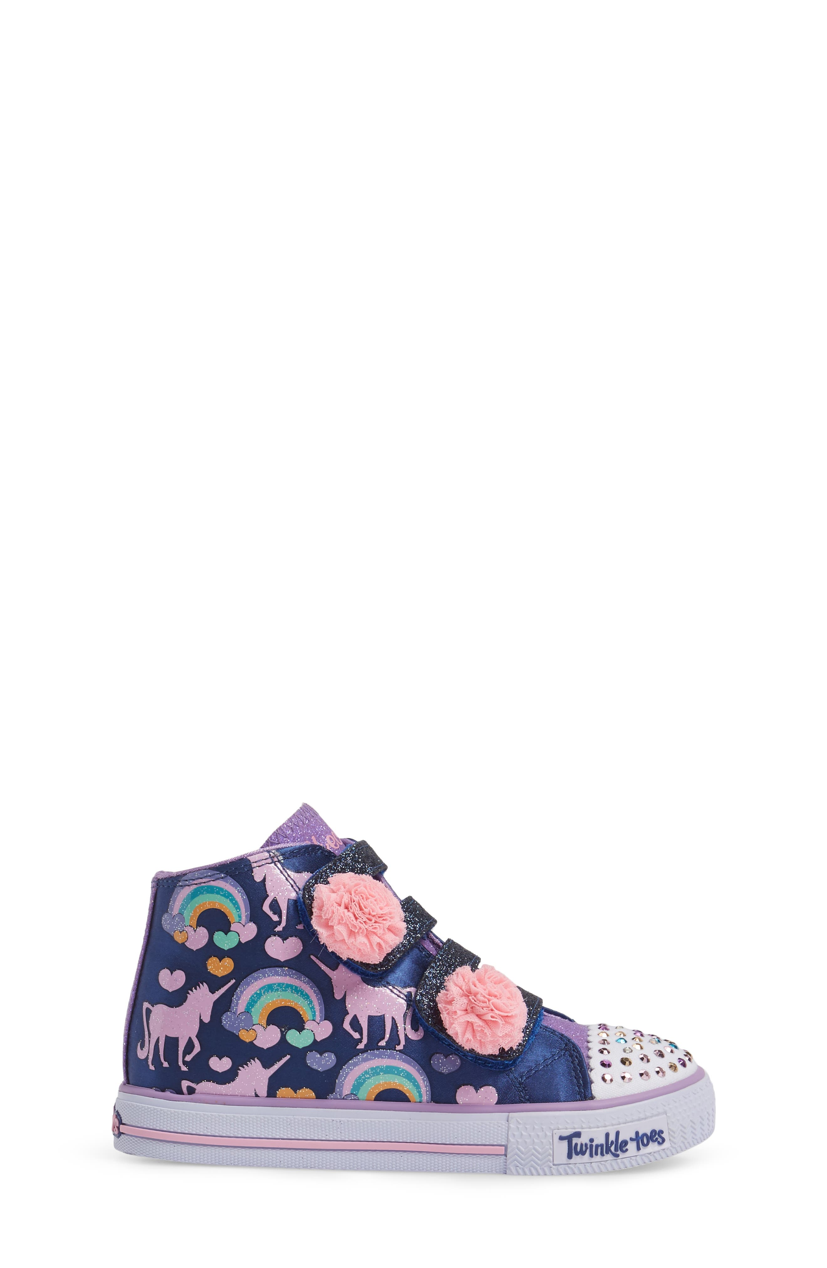 Twinkle Toes Shuffles High Top Sneaker,                             Alternate thumbnail 3, color,                             400