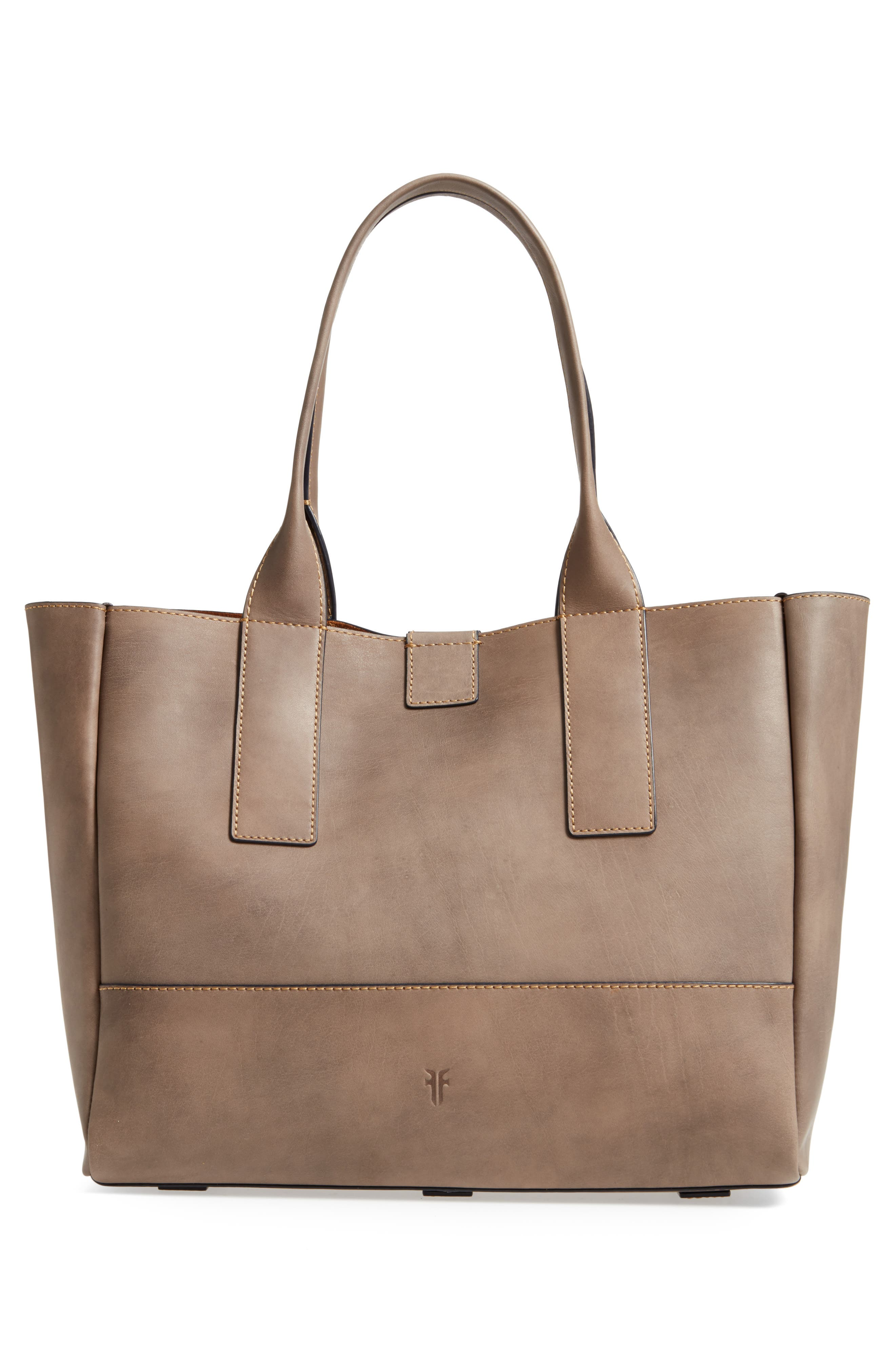 Ilana Harness Leather Shopper,                             Alternate thumbnail 3, color,                             030