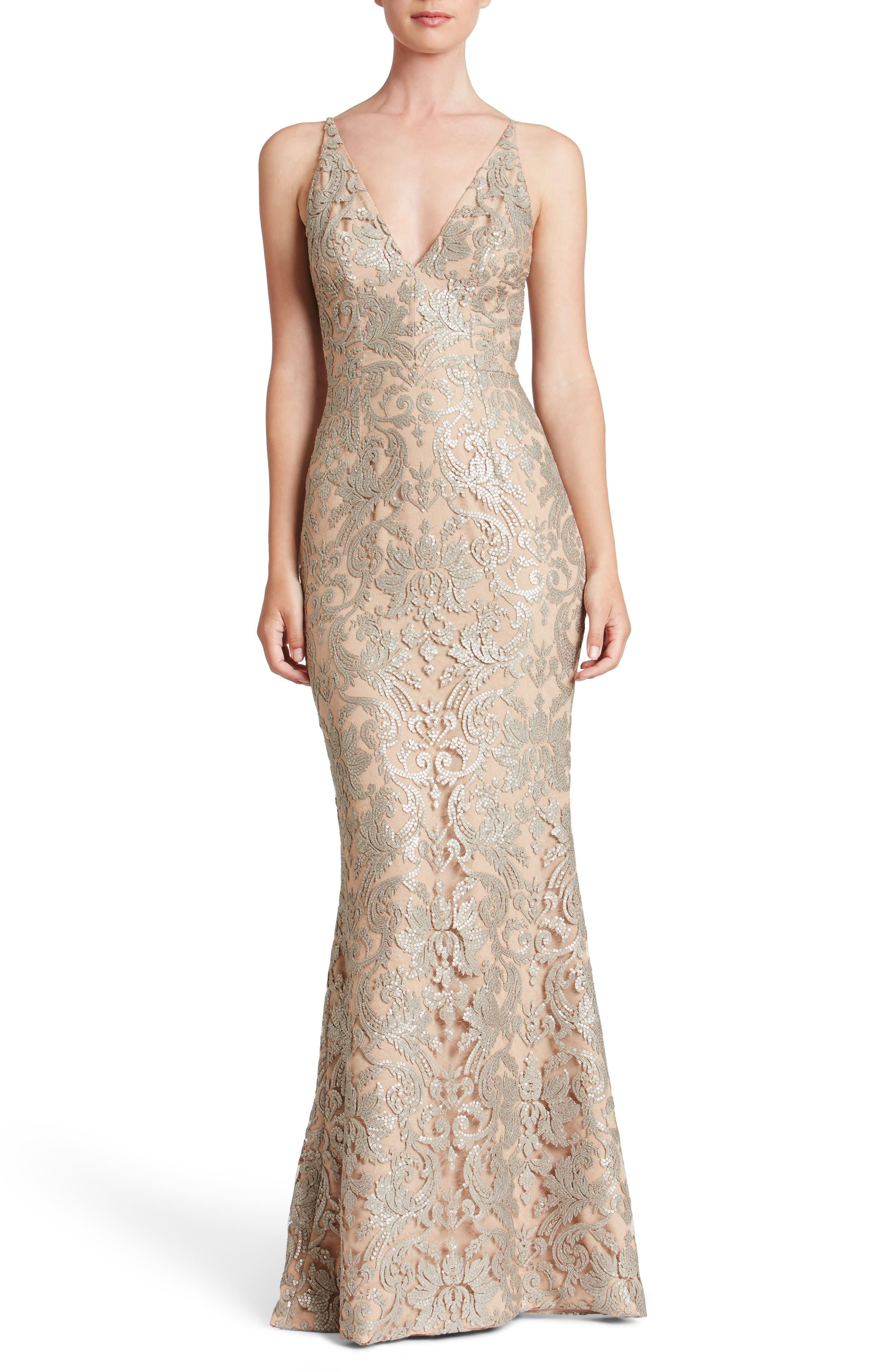 Karen Mermaid Gown,                         Main,                         color,