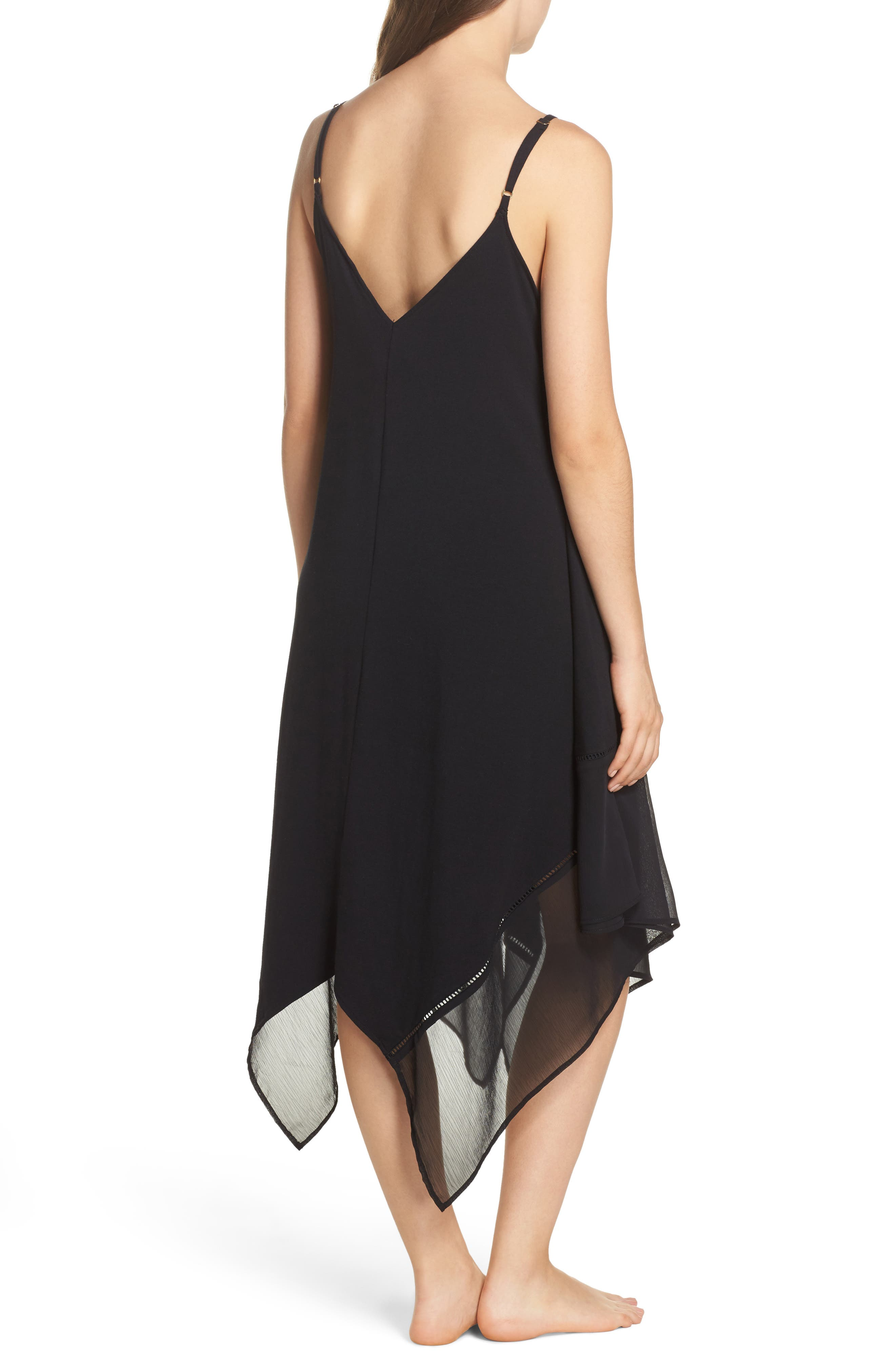 Cover-Up Scarf Dress,                             Alternate thumbnail 2, color,                             BLACK