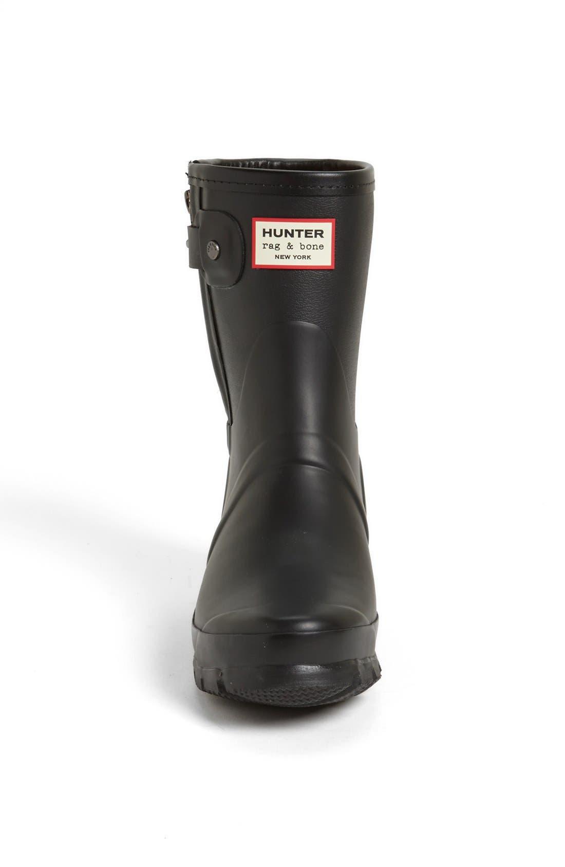 for rag & bone Short Rain Boot,                             Alternate thumbnail 3, color,                             001