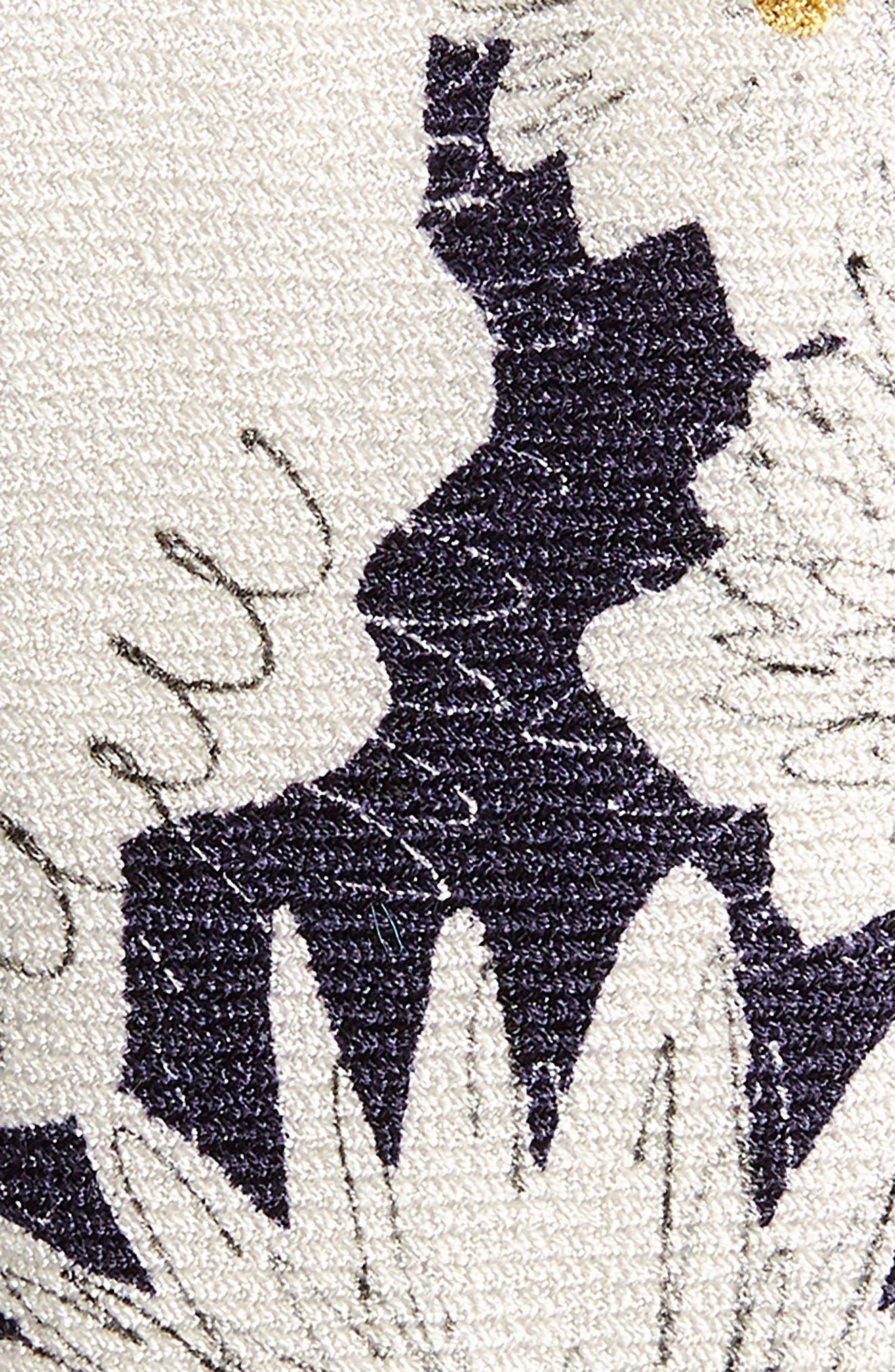 Floral Silk Skinny Tie,                             Alternate thumbnail 2, color,                             410