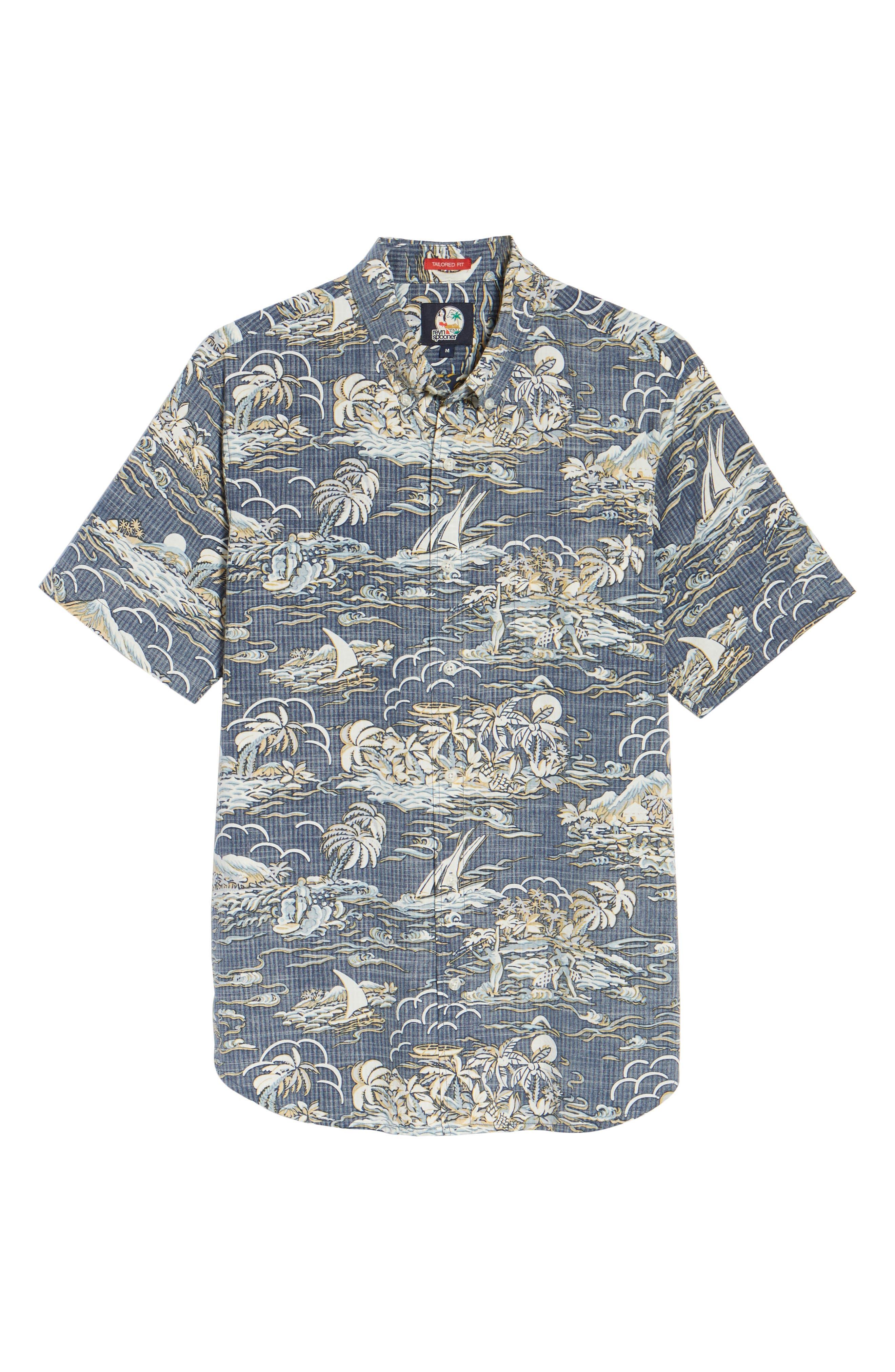Laupakahi Modern Fit Print Shirt,                             Alternate thumbnail 6, color,                             410