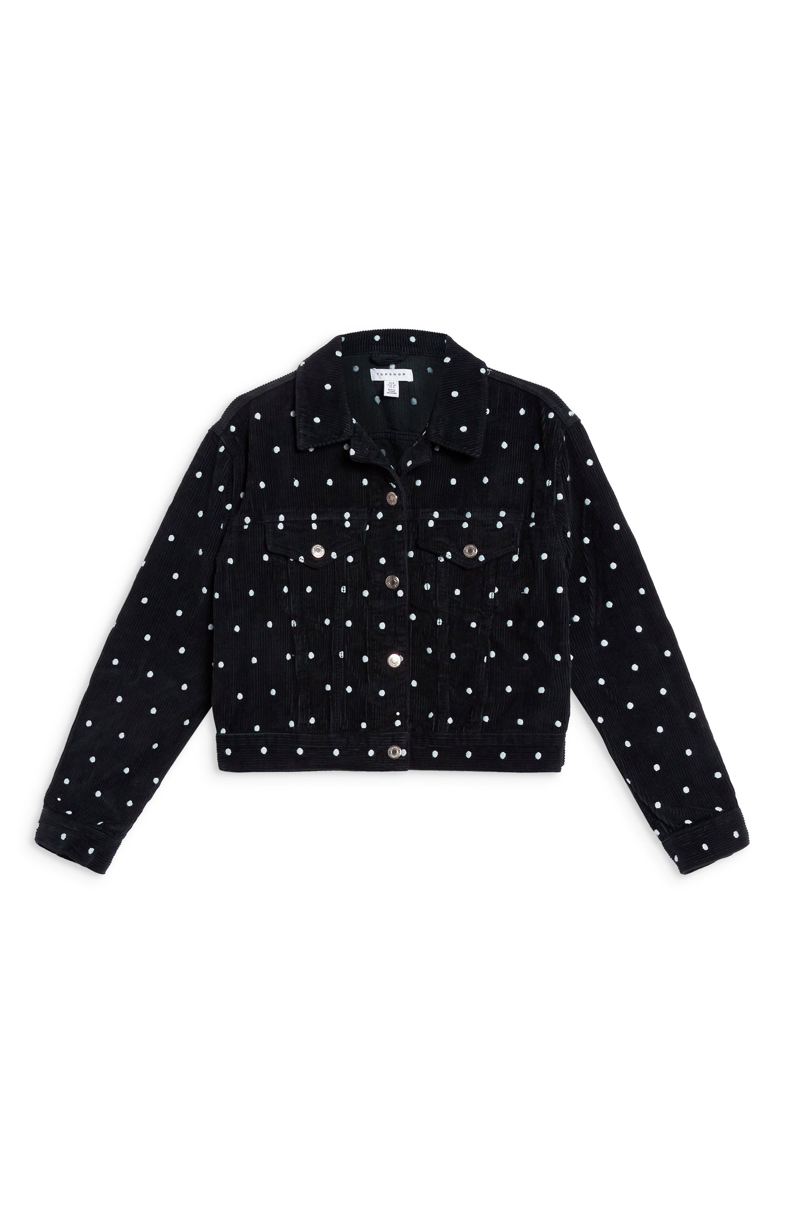 Spot Corduroy Jacket,                             Alternate thumbnail 3, color,                             NAVY BLUE