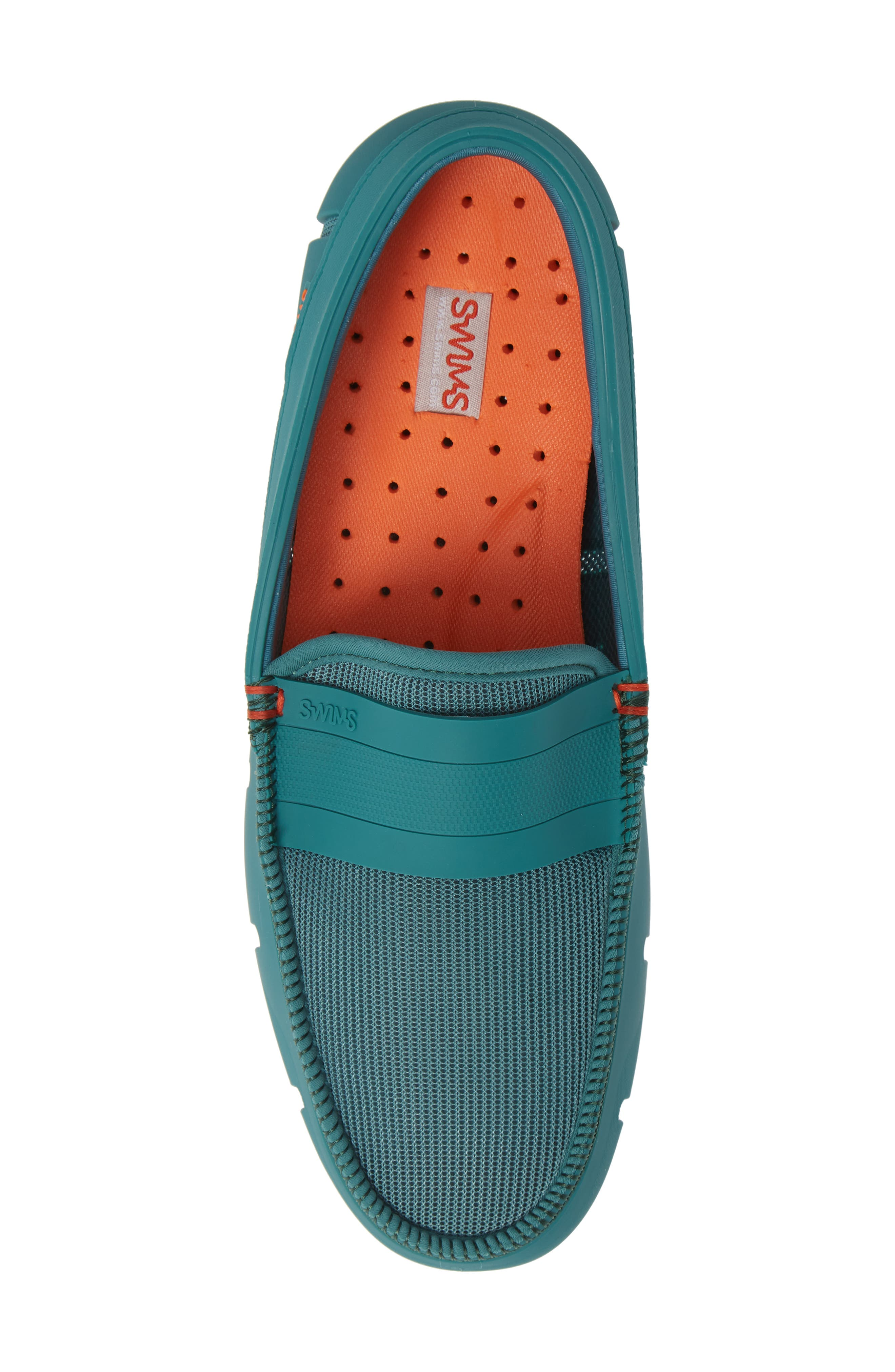 Stride Driving Loafer,                             Alternate thumbnail 5, color,                             TEAL GREEN