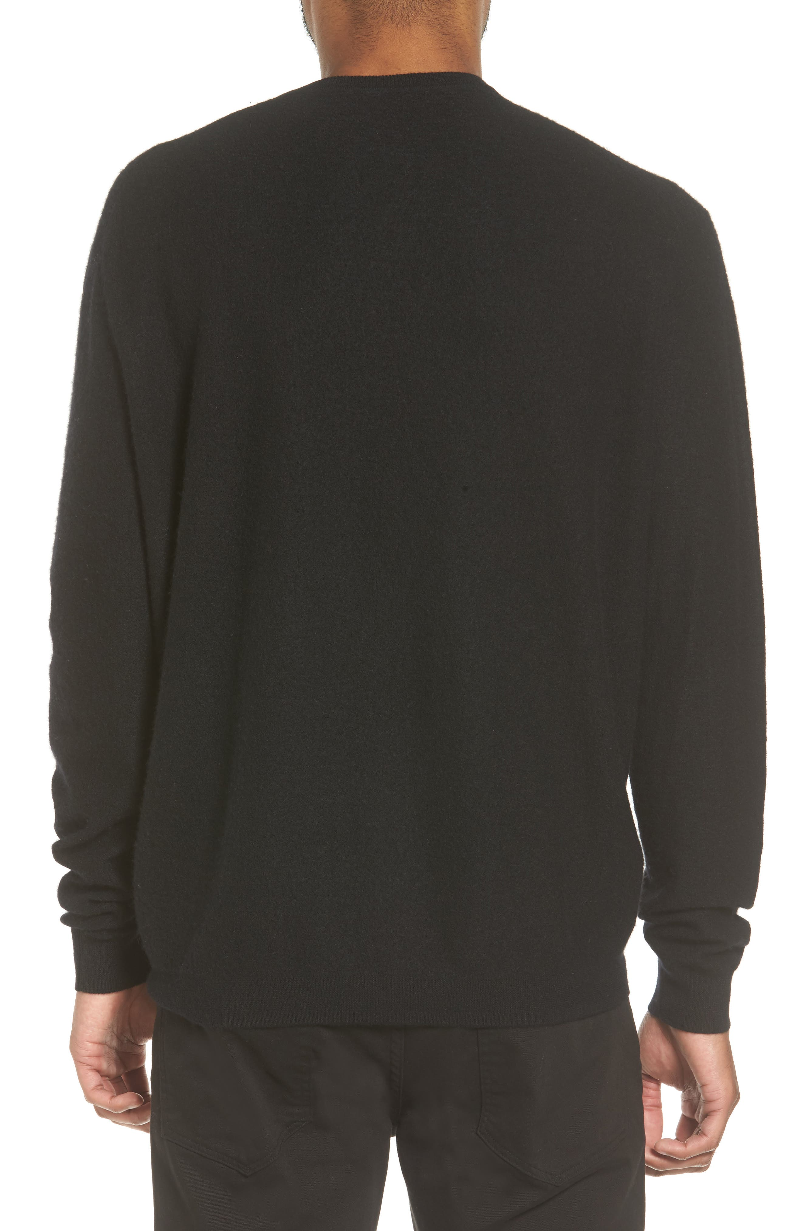 Cashmere Crewneck Sweater,                             Alternate thumbnail 2, color,                             001