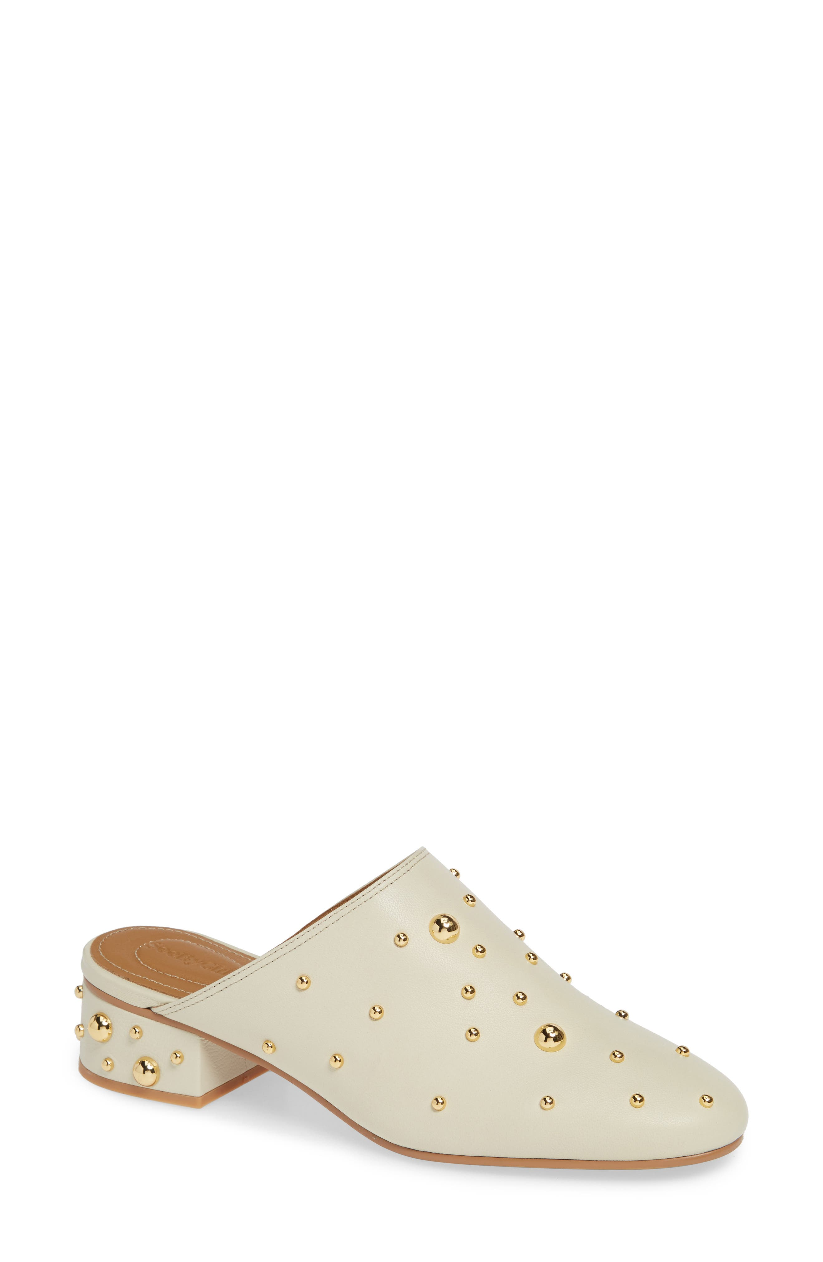 See By Chloe Abby Studded Mule, White