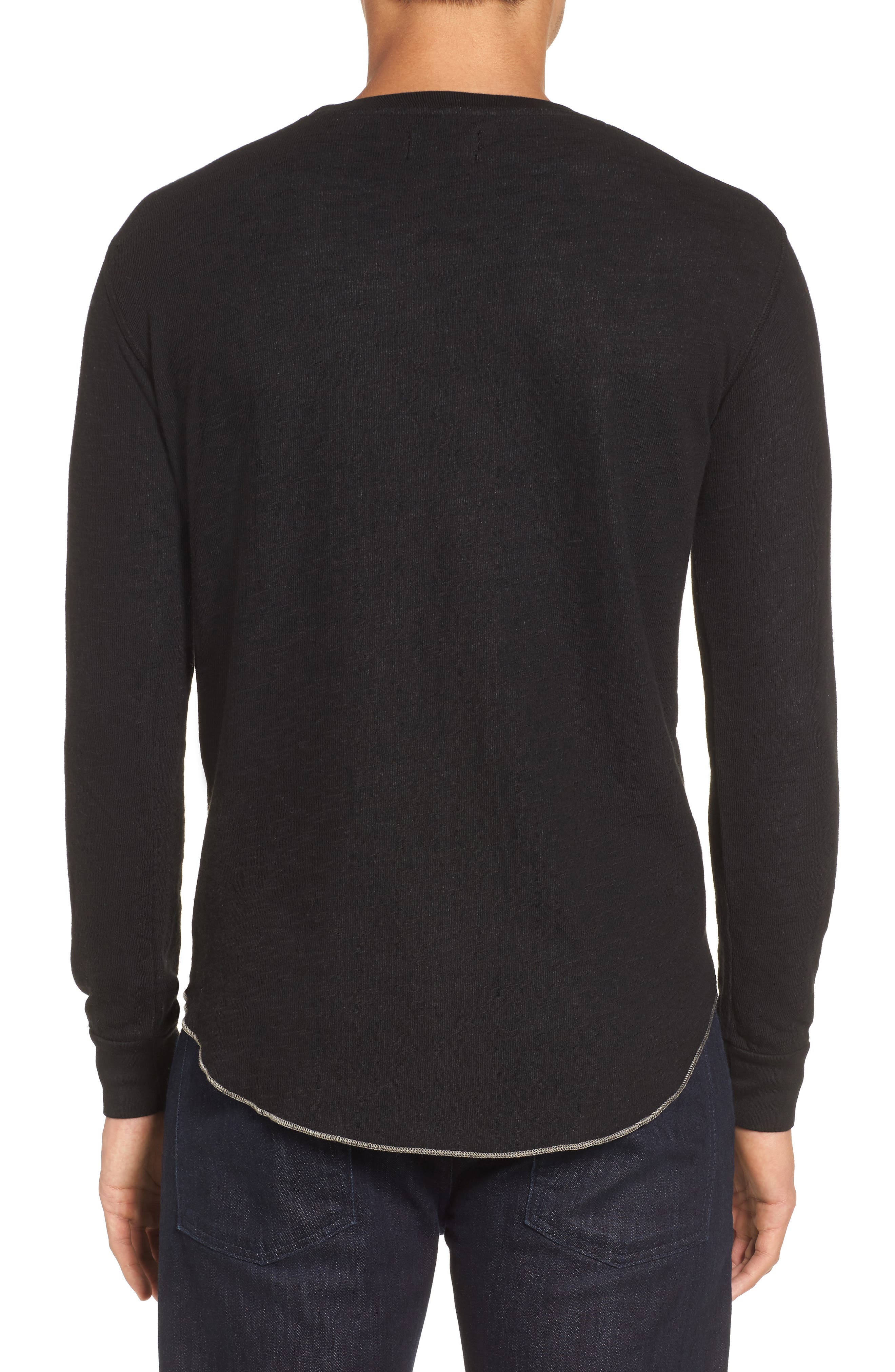 Double Layer Slim Crewneck T-Shirt,                             Alternate thumbnail 10, color,