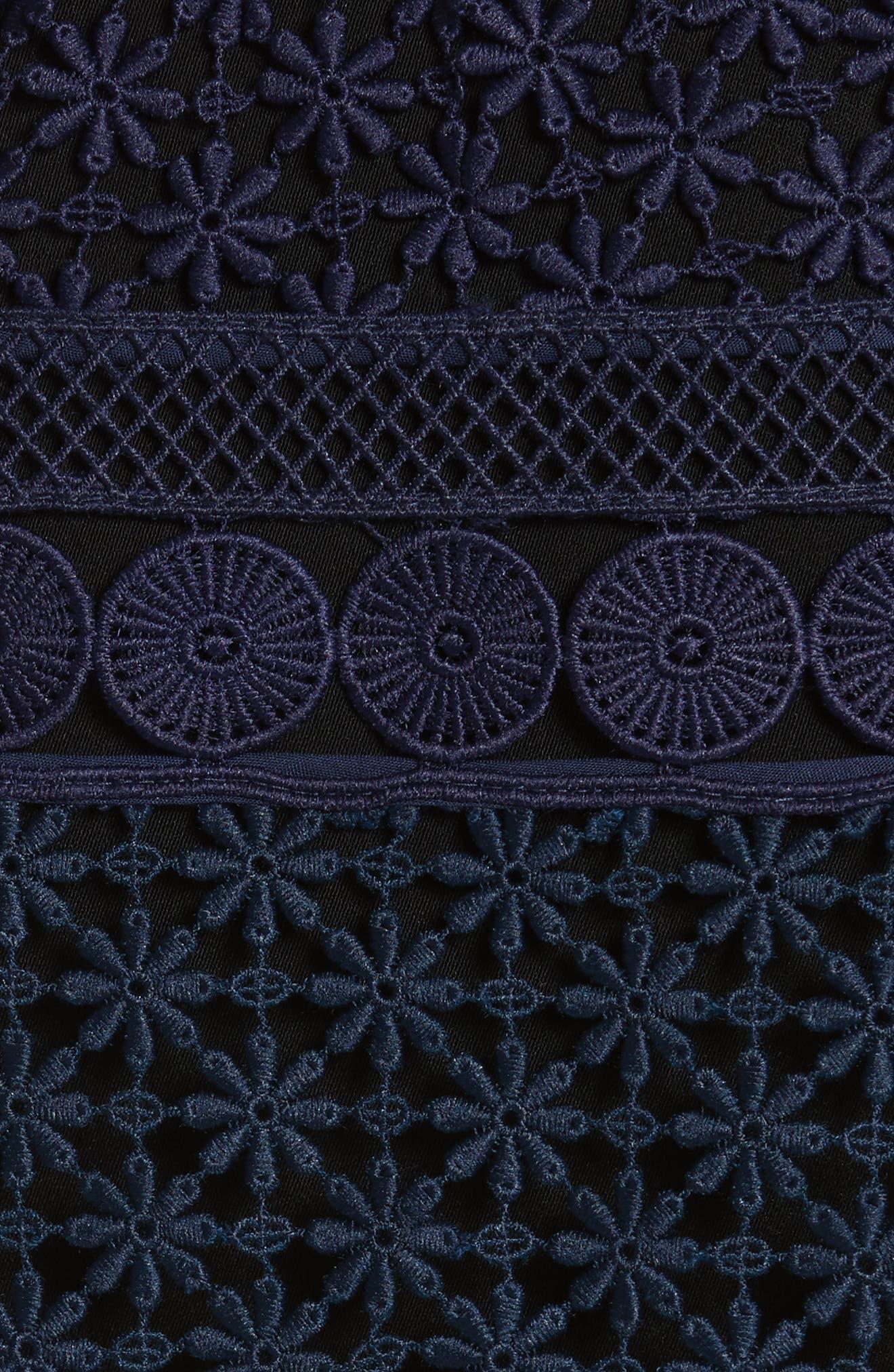 Guipure Lace Cape Dress,                             Alternate thumbnail 5, color,                             400