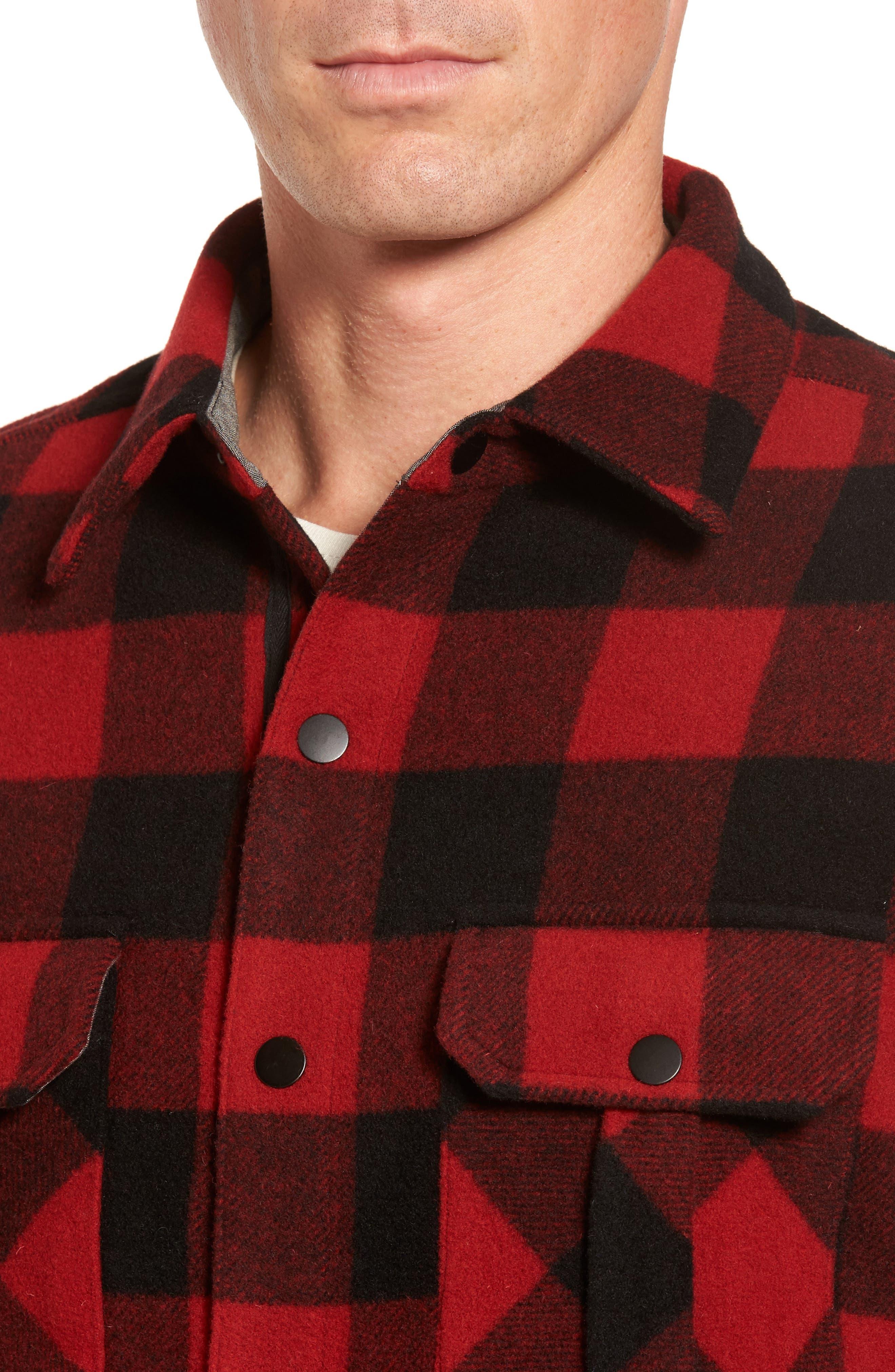 Anchor Line Flannel Shirt Jacket,                             Alternate thumbnail 8, color,