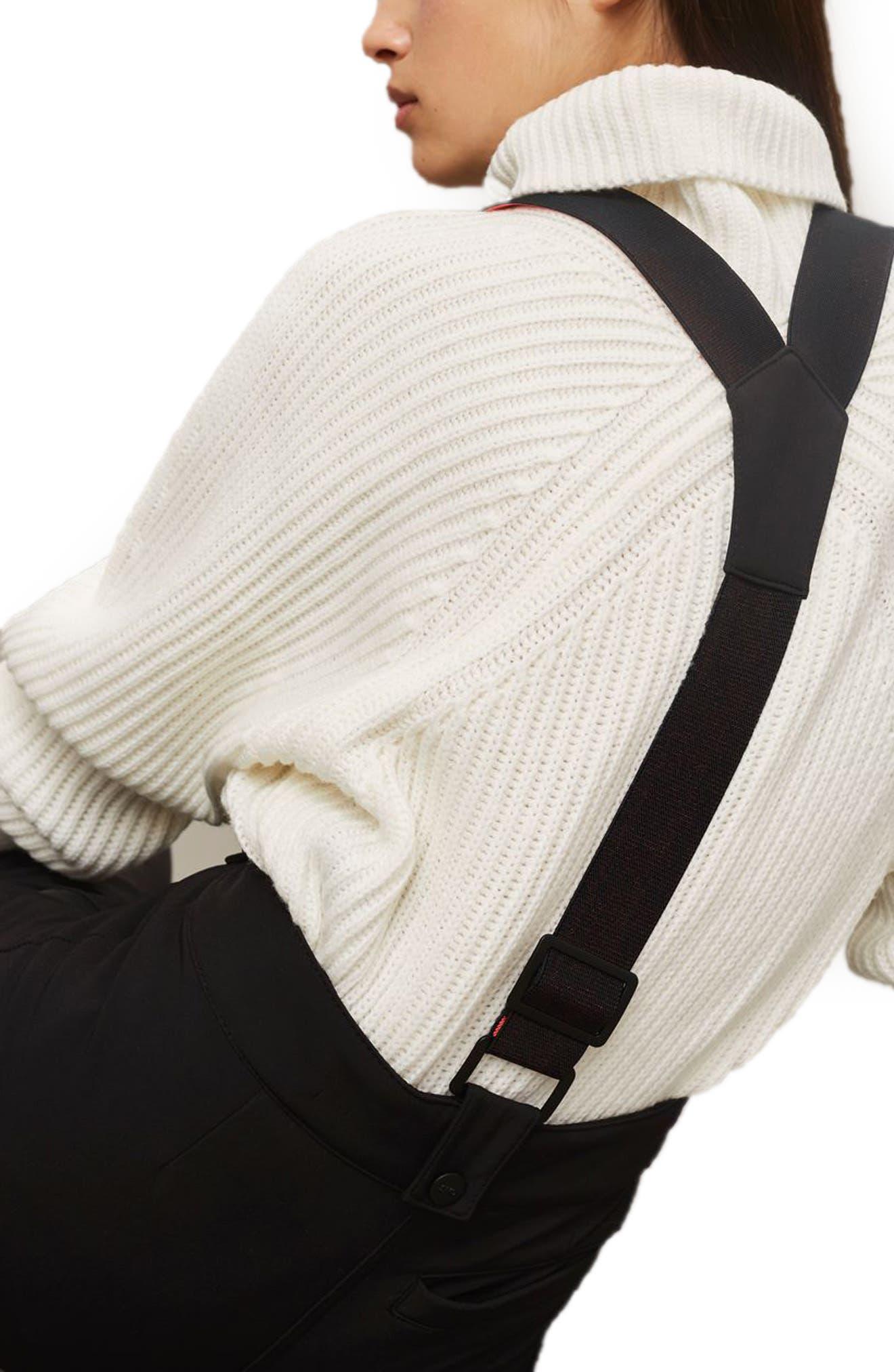 SNO Ace Suspender Ski Pants,                             Alternate thumbnail 4, color,                             001