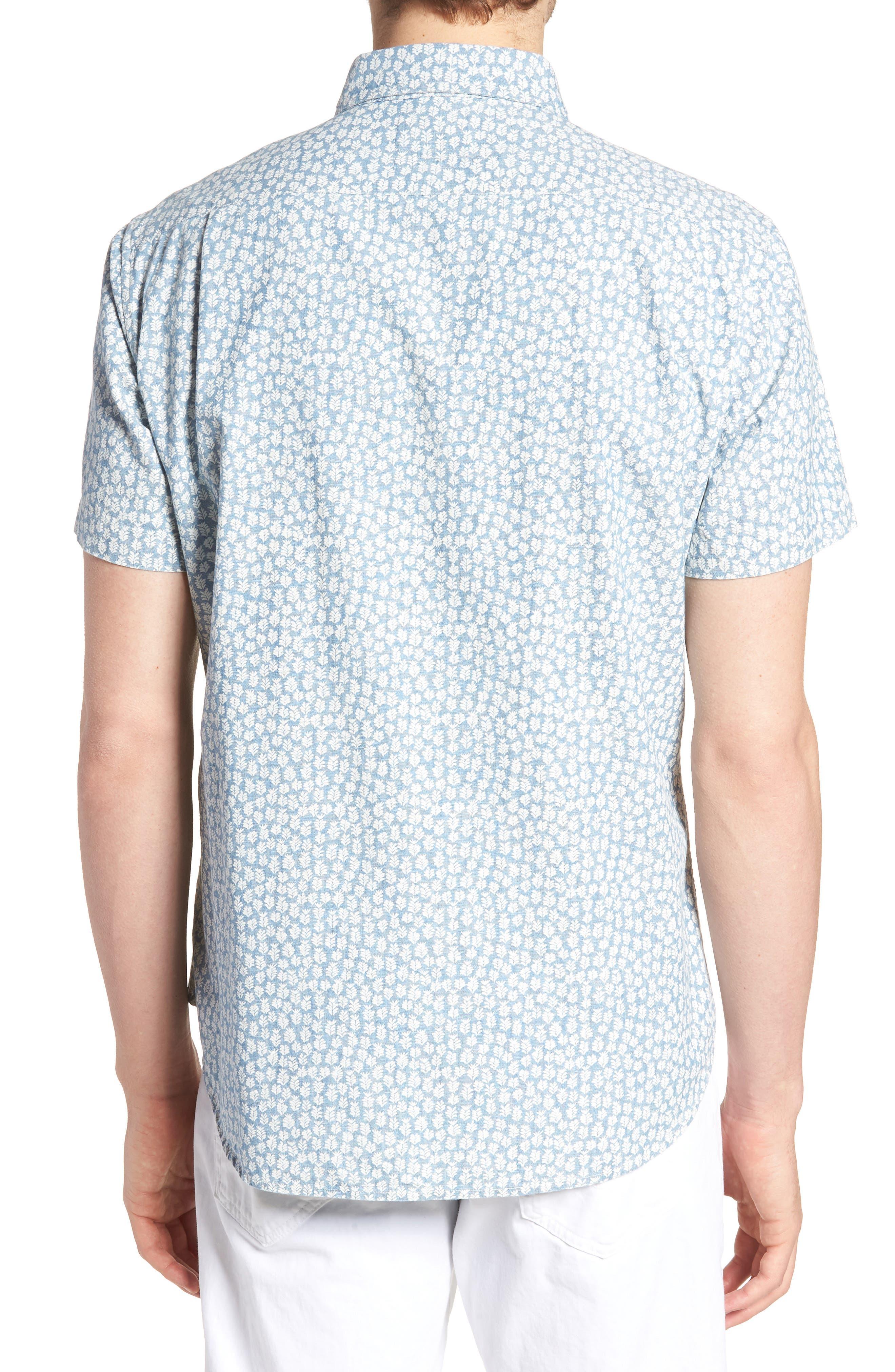 BONOBOS,                             Riviera Slim Fit Leaf Print Sport Shirt,                             Alternate thumbnail 2, color,                             400