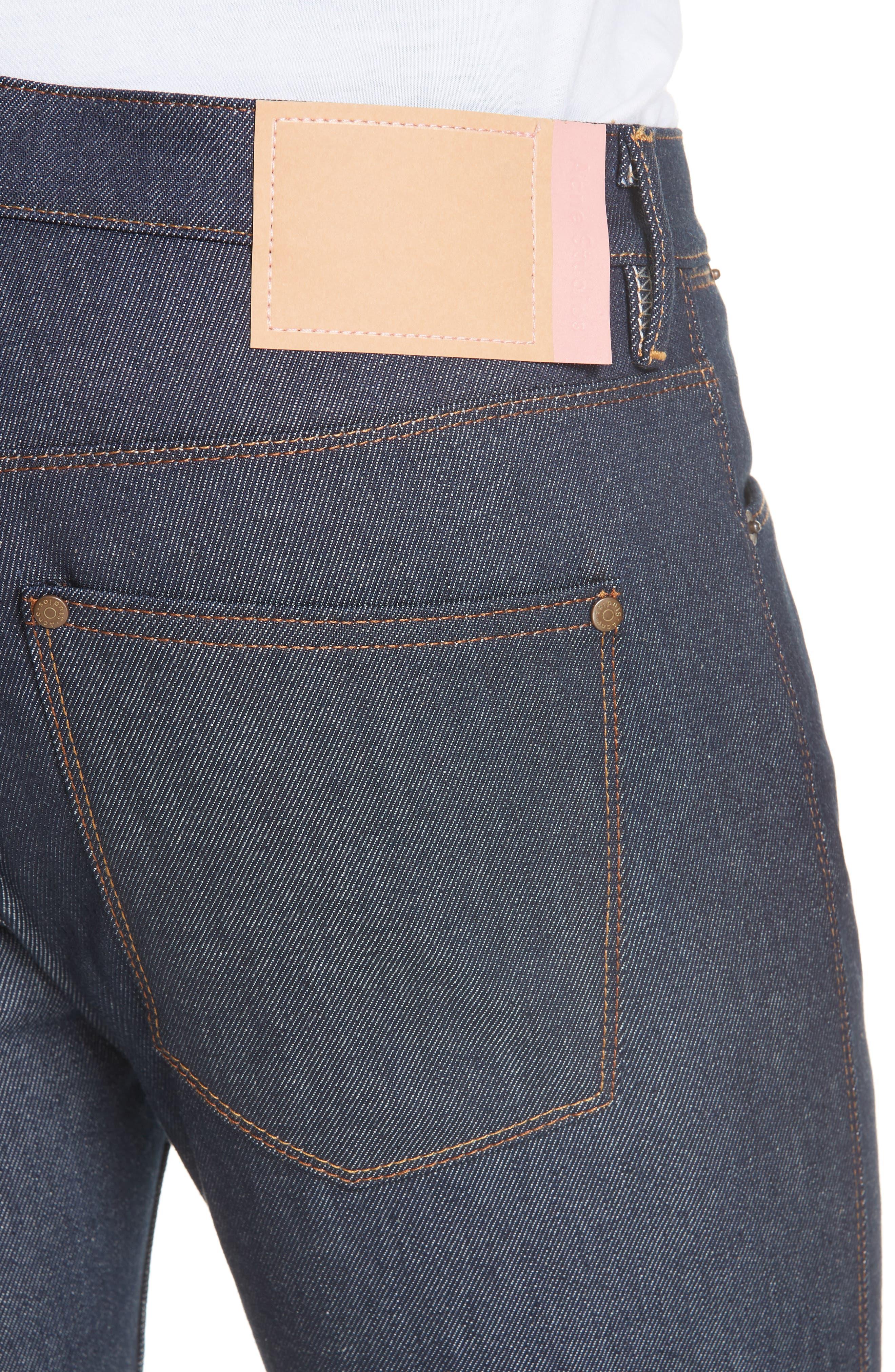Max Slim Straight Leg Jeans,                             Alternate thumbnail 4, color,                             MAX INDIGO