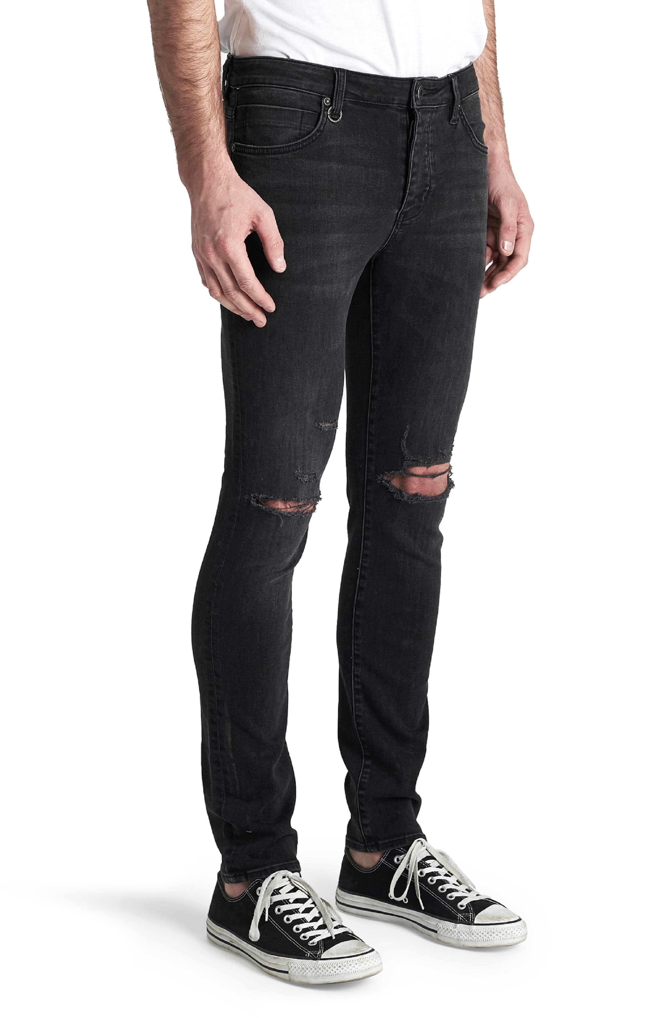 Iggy Skinny Fit Jeans,                             Alternate thumbnail 3, color,                             WOLFGANG