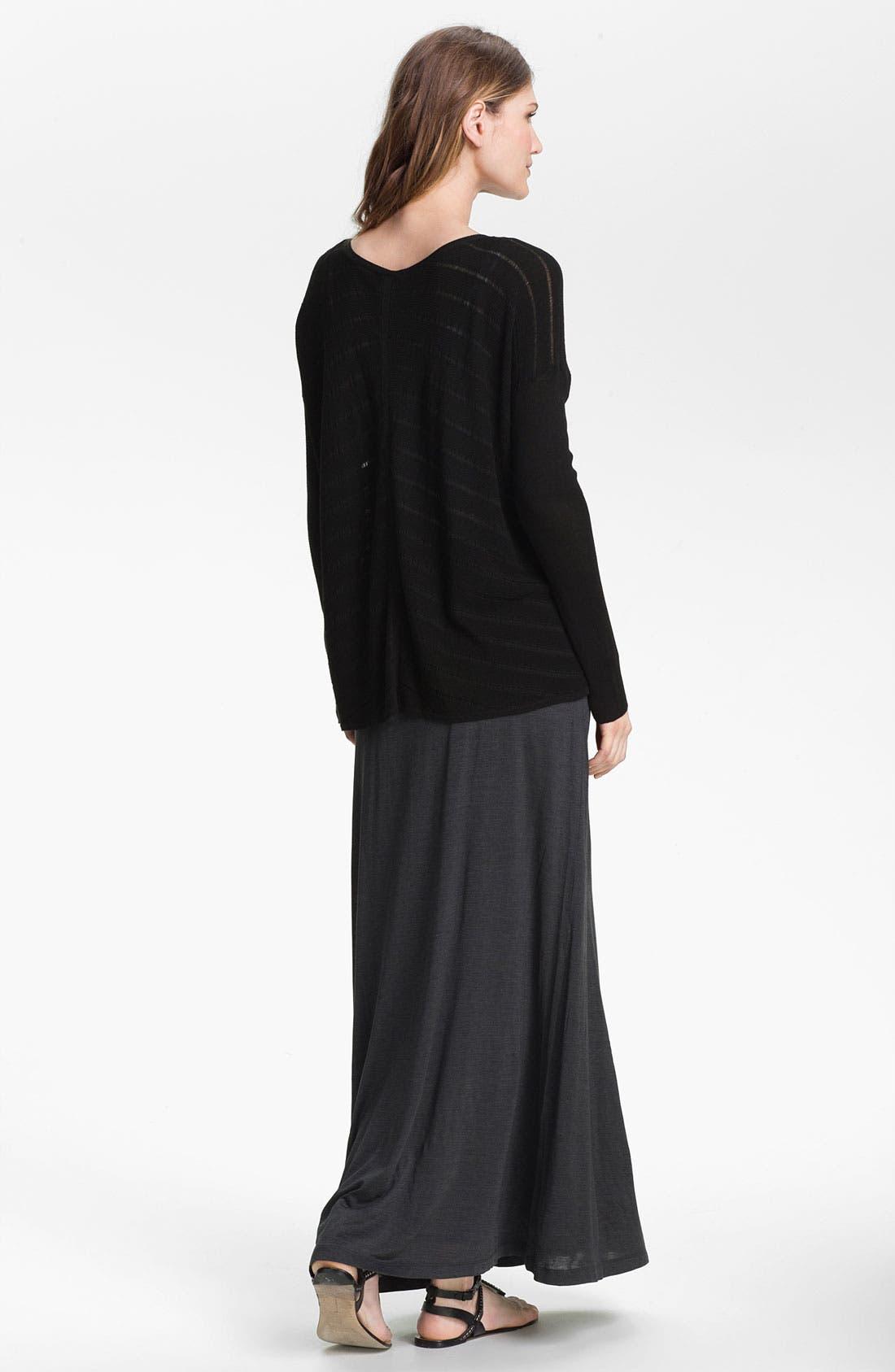 EILEEN FISHER,                             Silk & Cotton Jersey Maxi Skirt,                             Alternate thumbnail 2, color,                             025