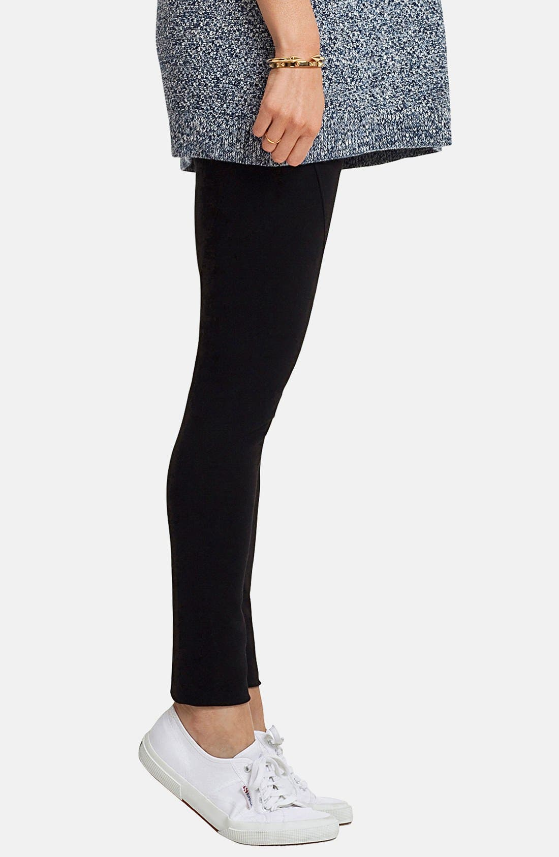 'Essential' Maternity Leggings,                             Alternate thumbnail 3, color,                             001