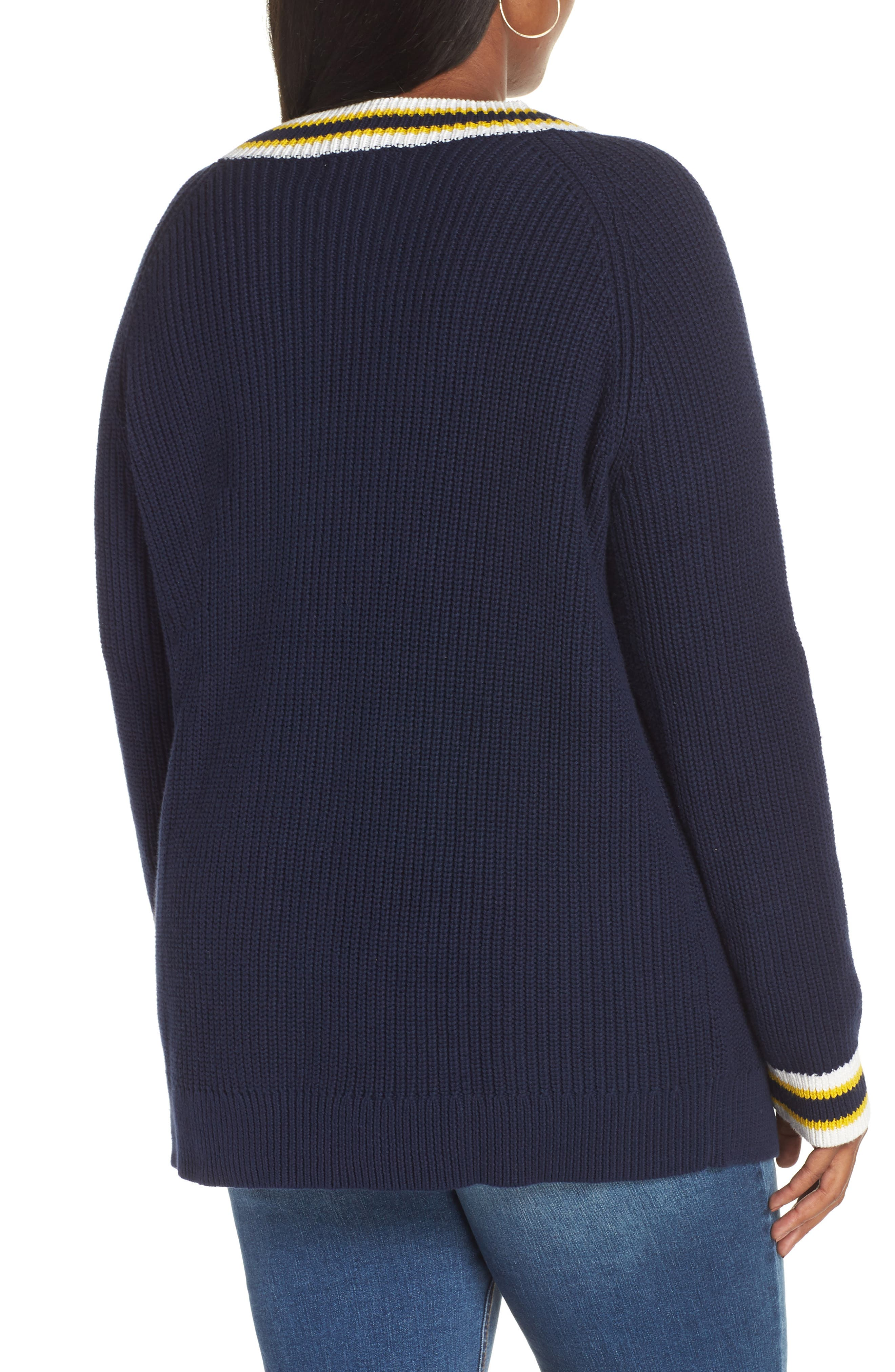 Tennis Sweater,                             Alternate thumbnail 8, color,                             410