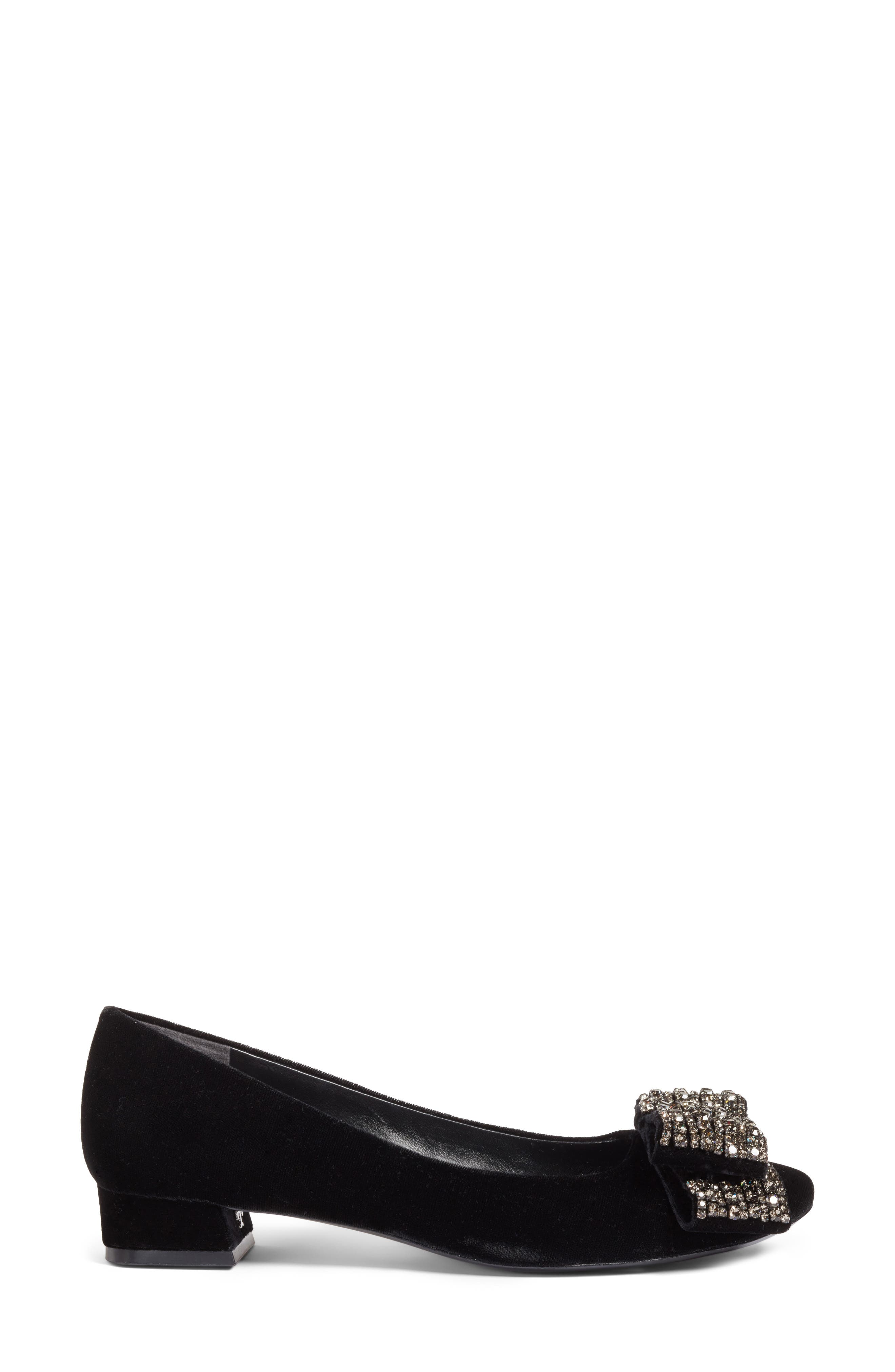 Josephine Embellished Bow Pump,                             Alternate thumbnail 3, color,                             009