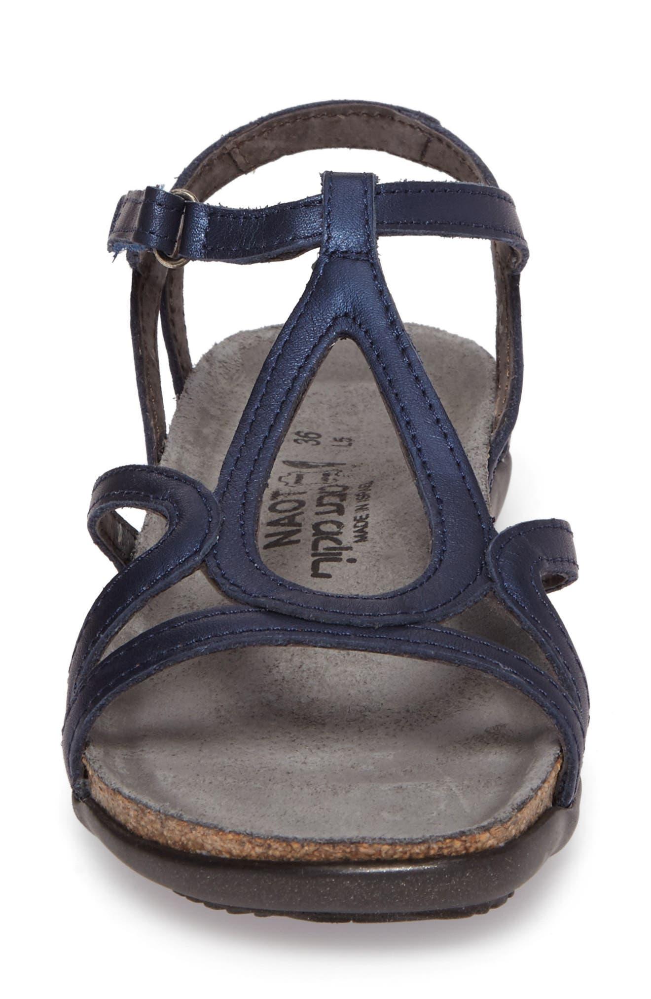 'Dorith' Sandal,                             Alternate thumbnail 4, color,                             POLAR SEA LEATHER