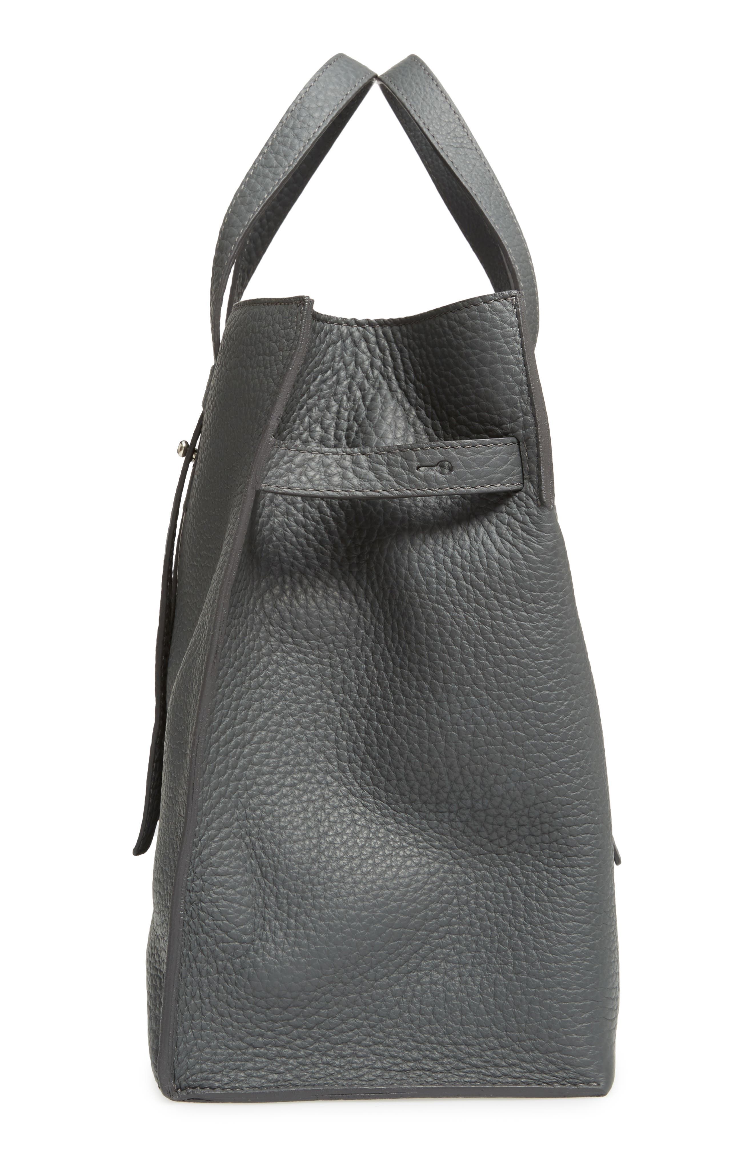 Petra Soft Calfskin Leather Tote,                             Alternate thumbnail 5, color,                             020