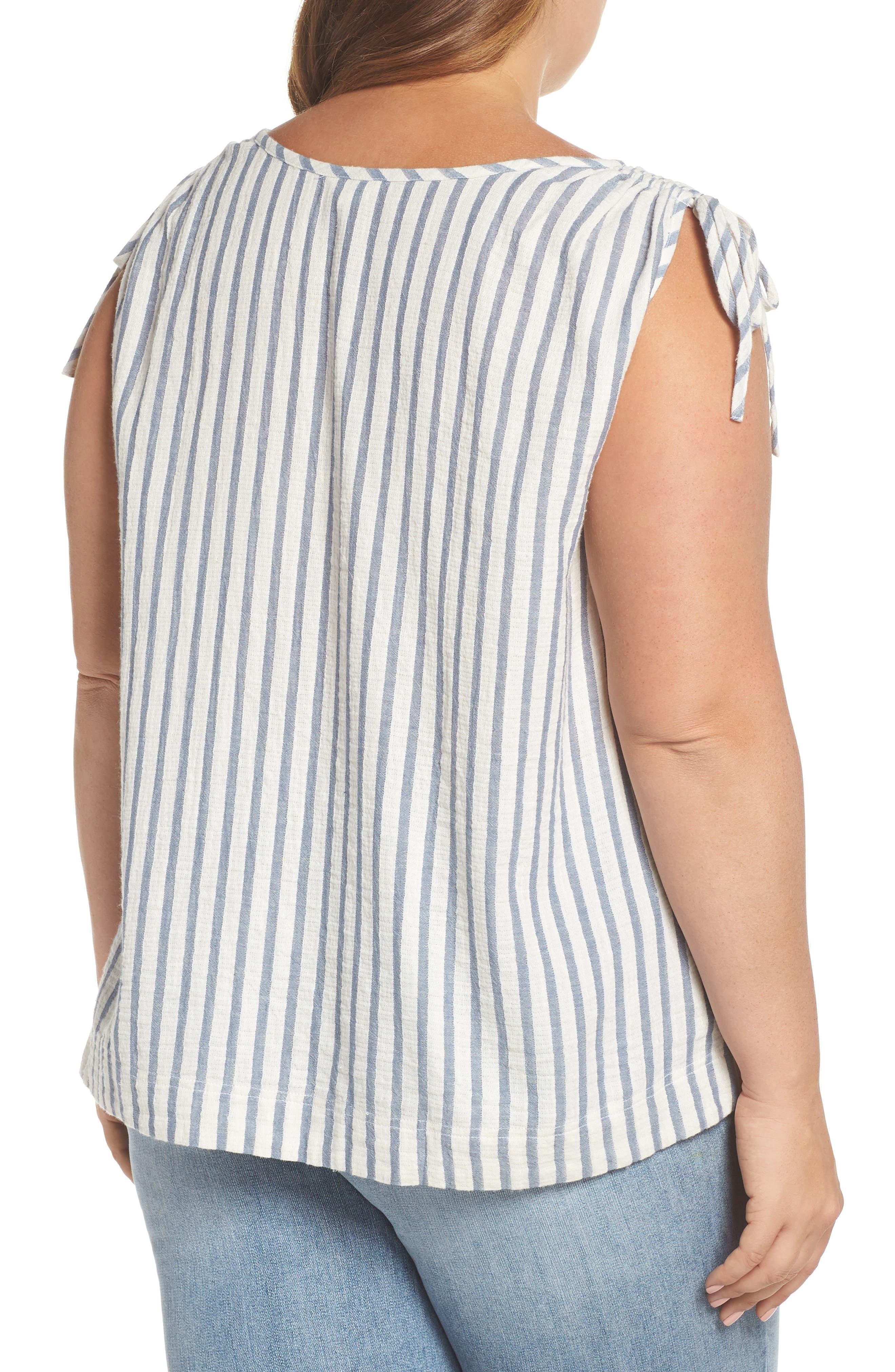 CASLON<SUP>®</SUP>,                             Tie Shoulder Stripe Tank,                             Alternate thumbnail 2, color,                             901