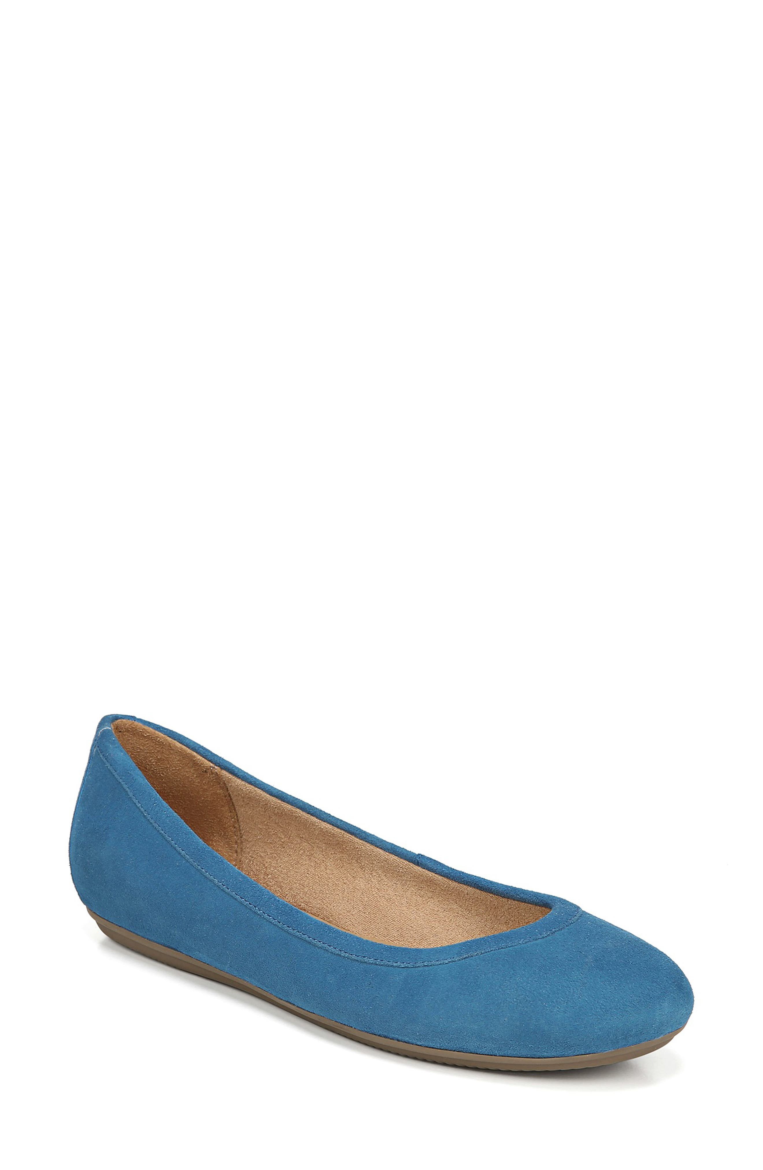 Brittany Flat,                             Main thumbnail 1, color,                             ADMIRAL BLUE LEATHER