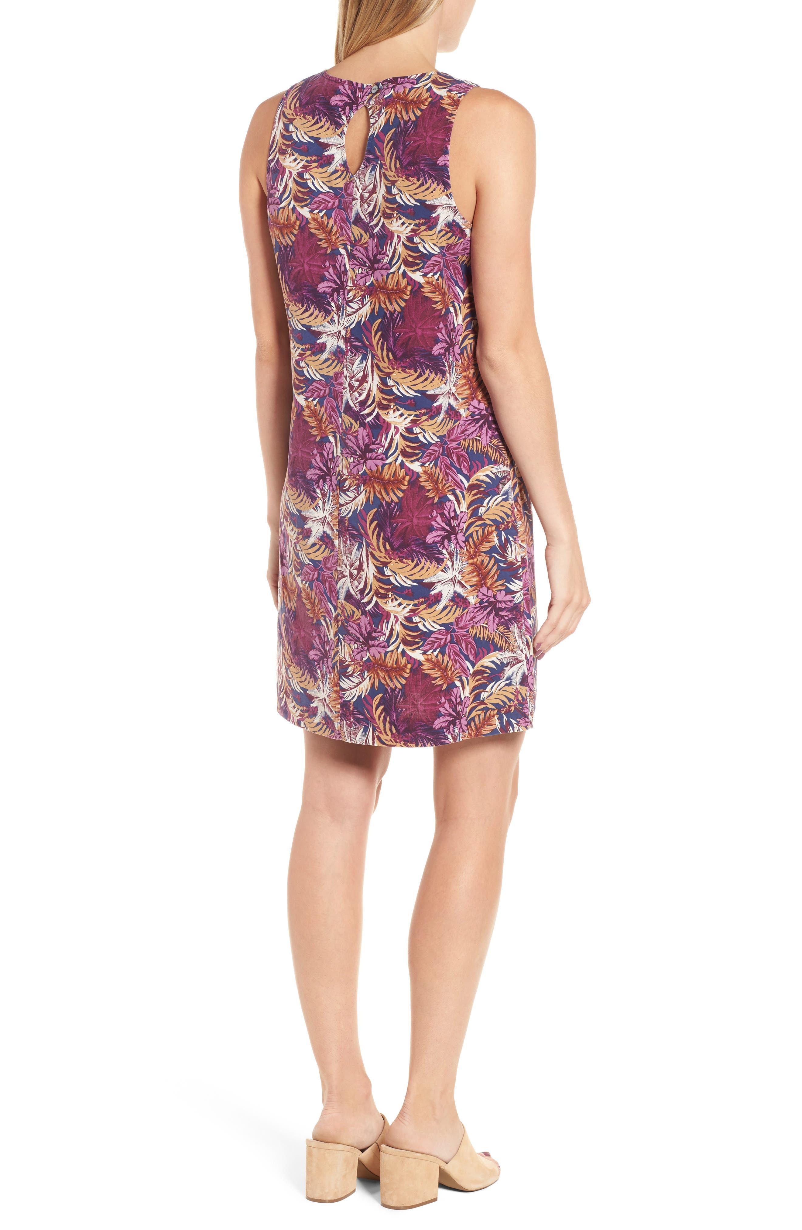Ta-Leaf-A Silk Shift Dress,                             Alternate thumbnail 2, color,                             400