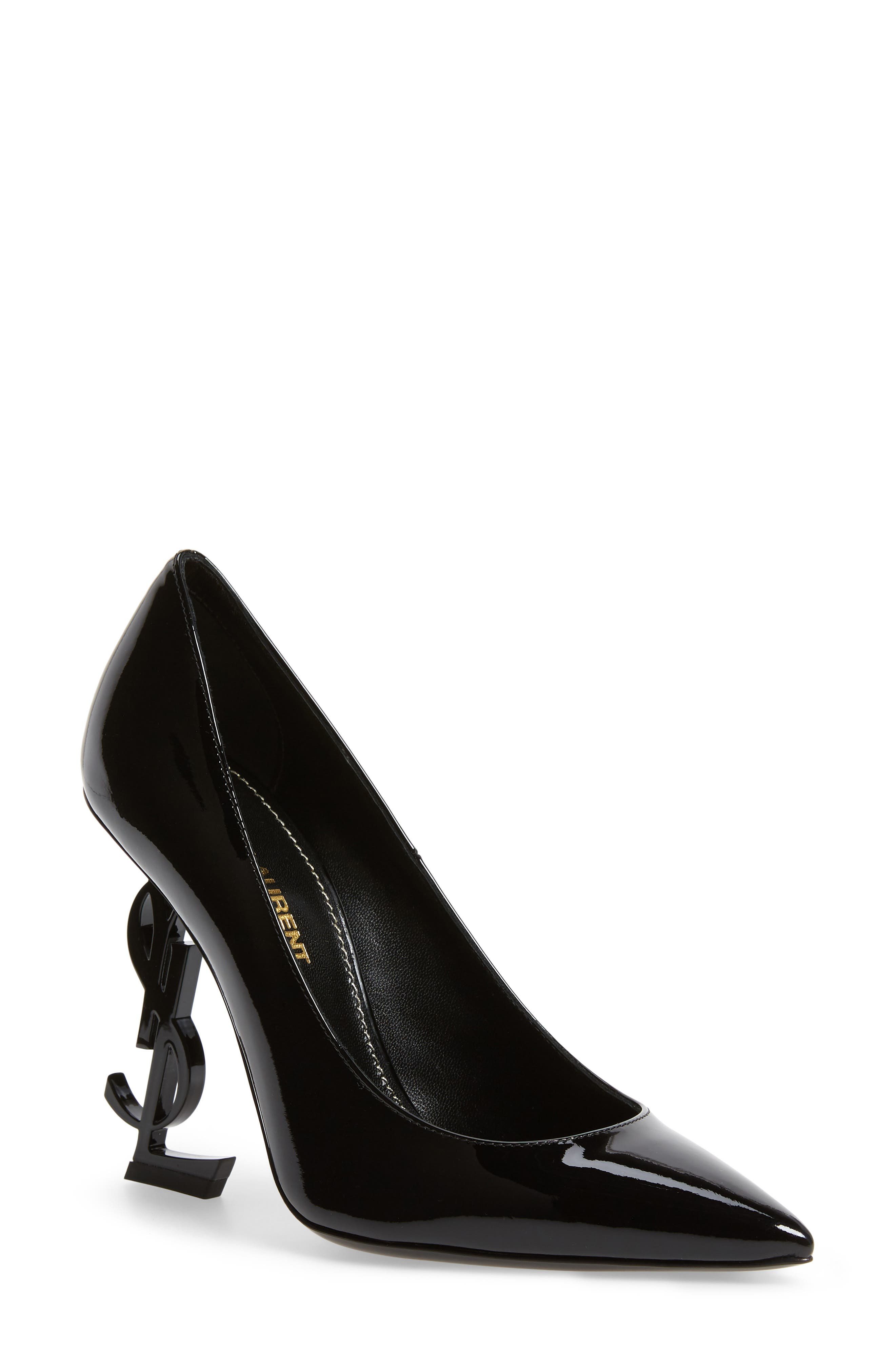 Opyum YSL Pointy Toe Pump,                             Main thumbnail 1, color,                             BLACK/ BLACK
