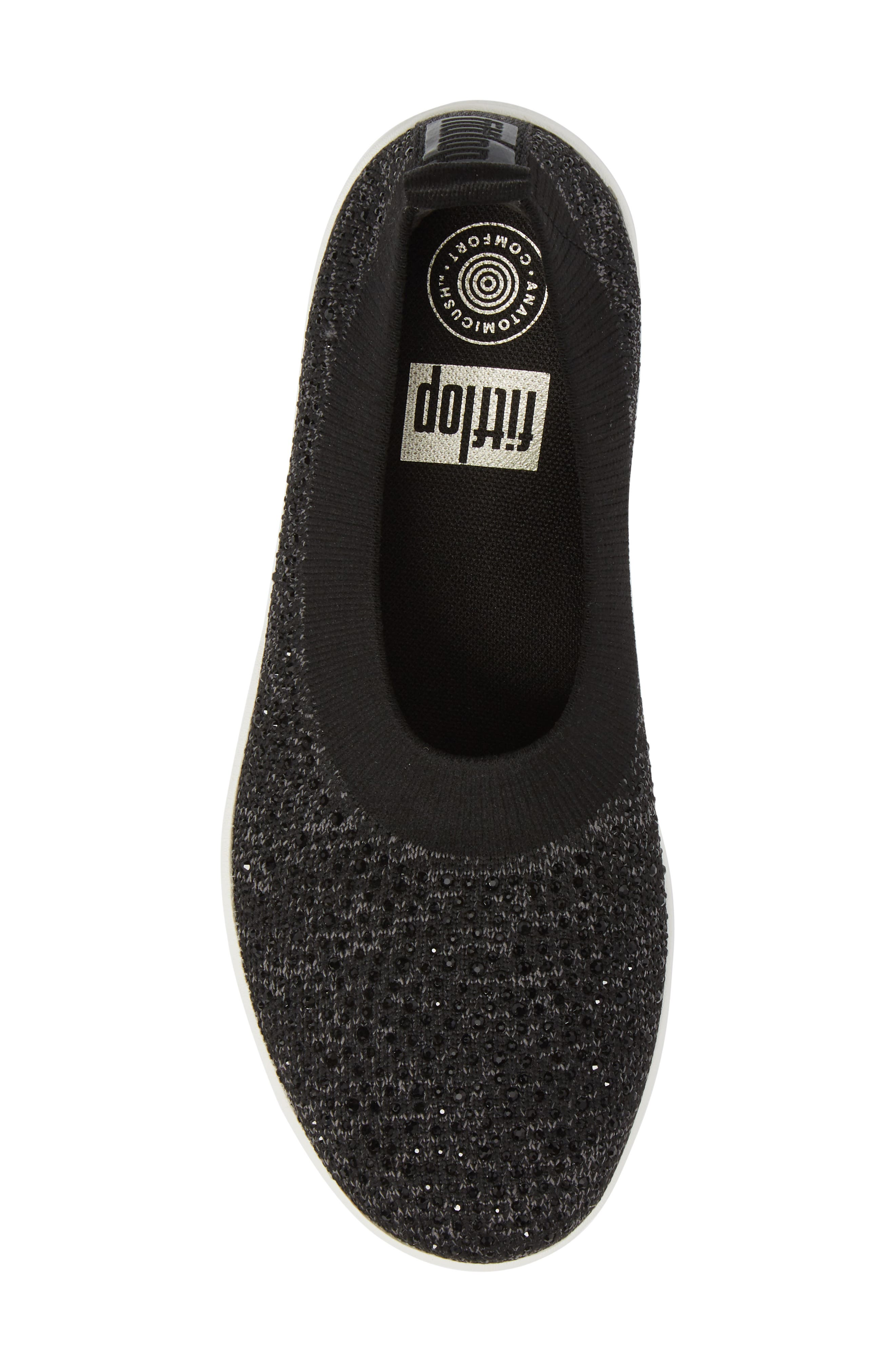Uberknit Slip-On Sneaker,                             Alternate thumbnail 5, color,                             BLACK/ SOFT GREY