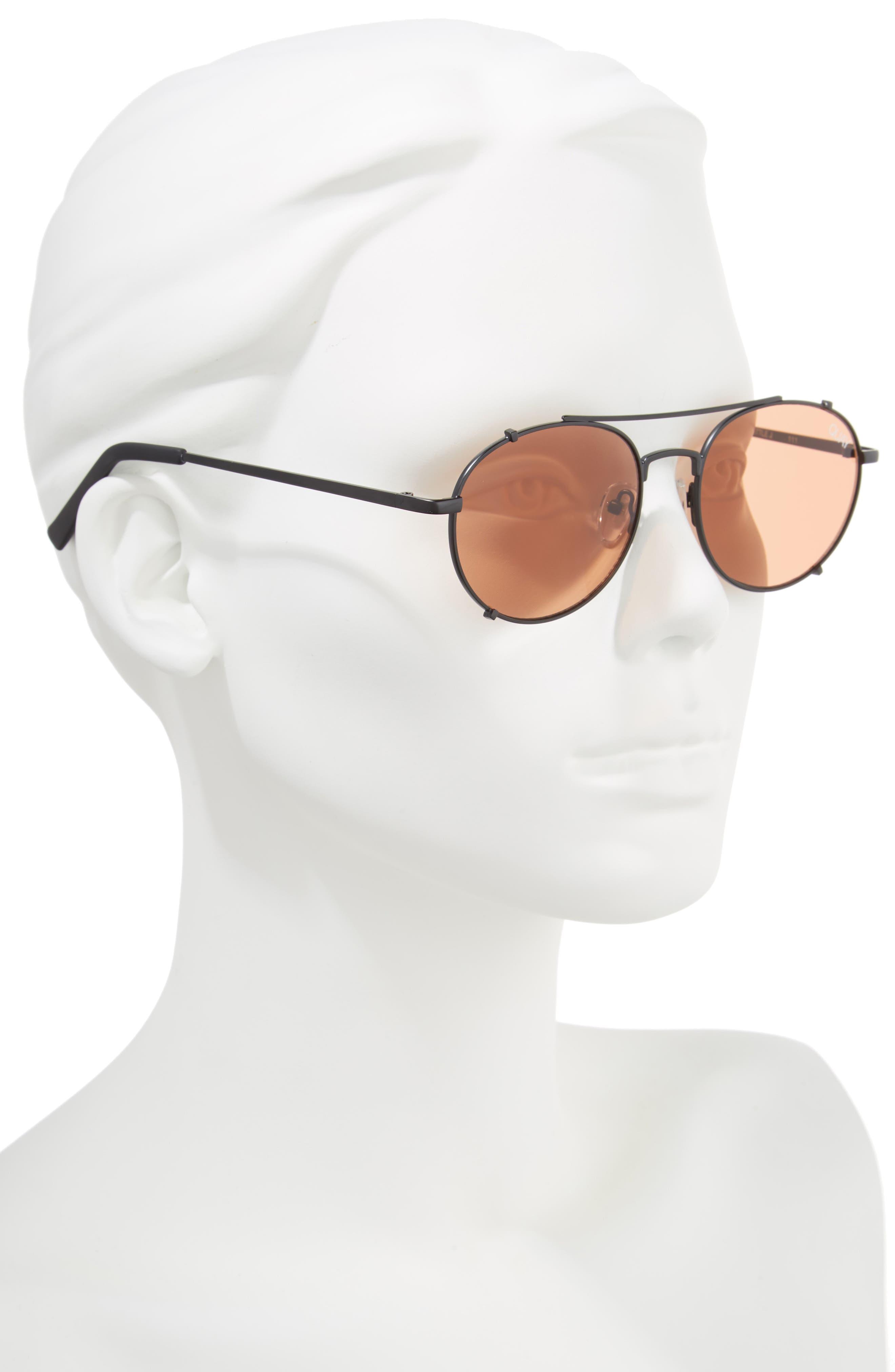 Little J 55mm Aviator Sunglasses,                             Alternate thumbnail 2, color,                             001