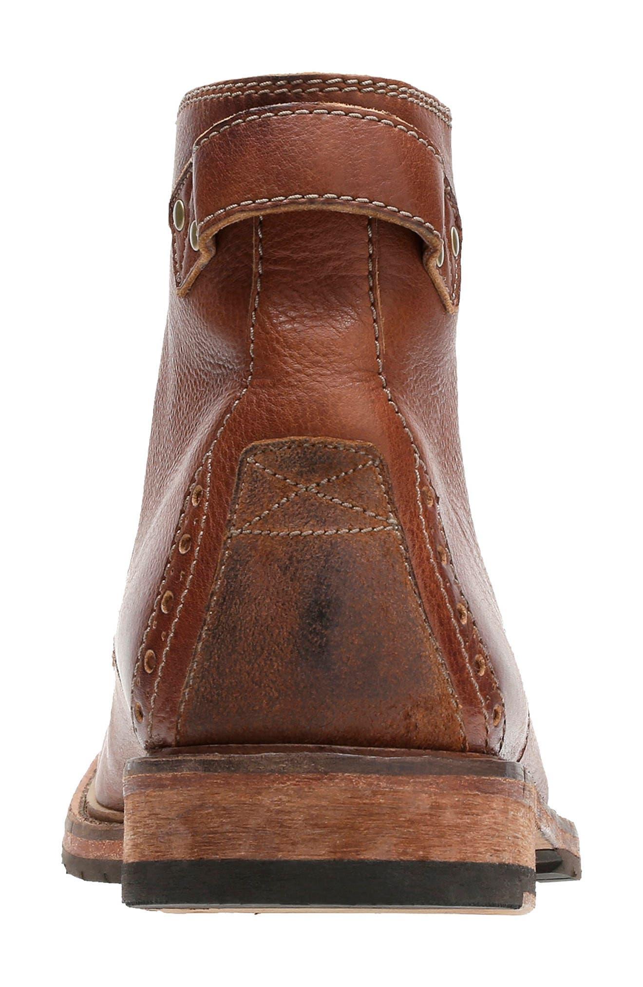 Clarkdale Bud Plain Toe Boot,                             Alternate thumbnail 5, color,                             DARK TAN LEATHER