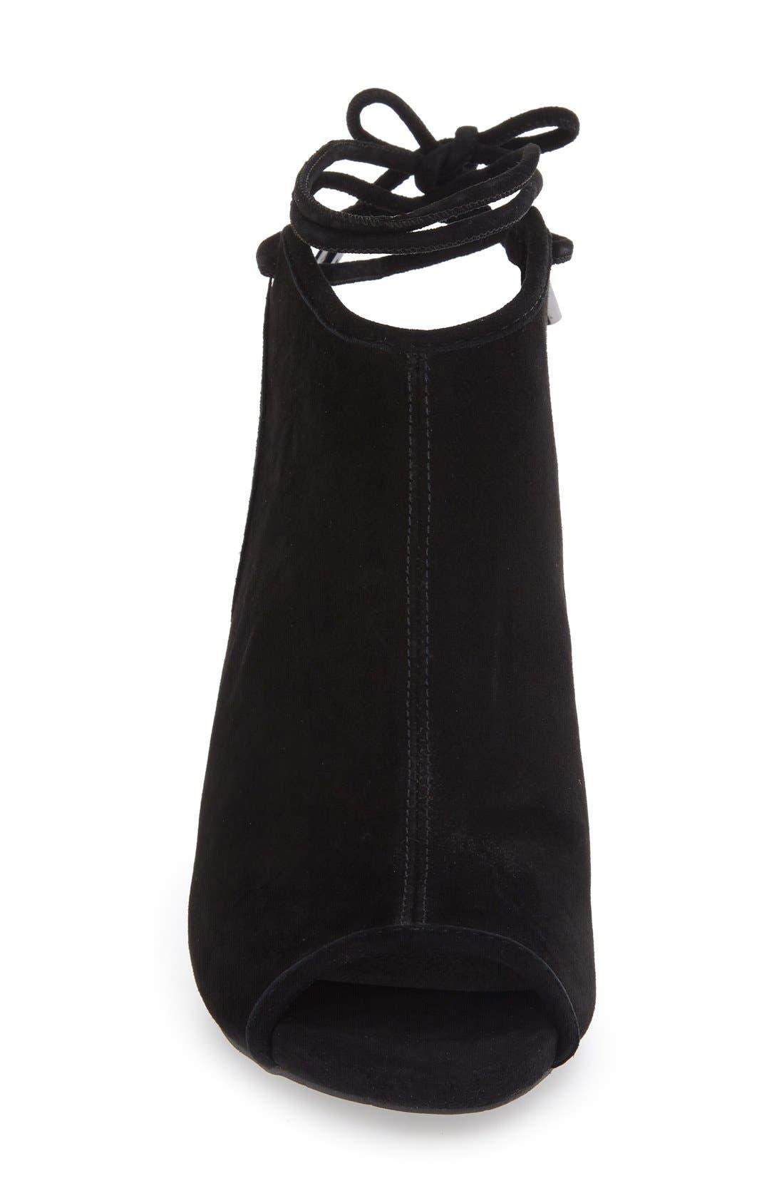 Darla Block Heel Sandal,                             Alternate thumbnail 3, color,                             001