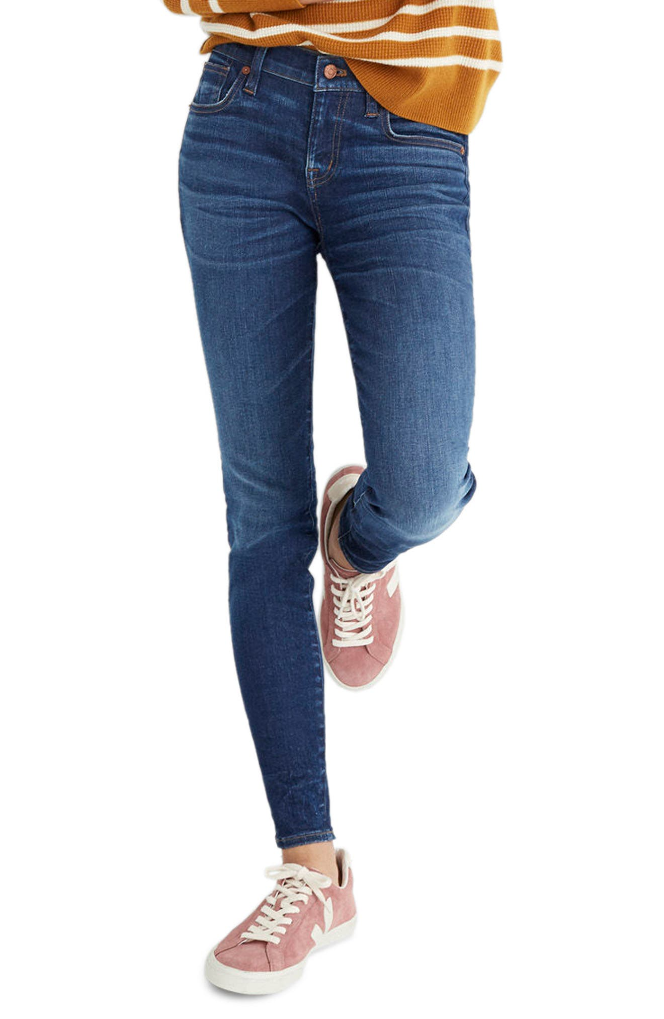 MADEWELL 8-Inch Skinny Jeans, Main, color, 400