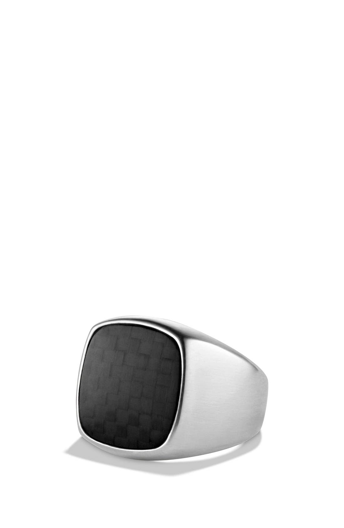 'Chevron' Signet Ring,                             Main thumbnail 2, color,