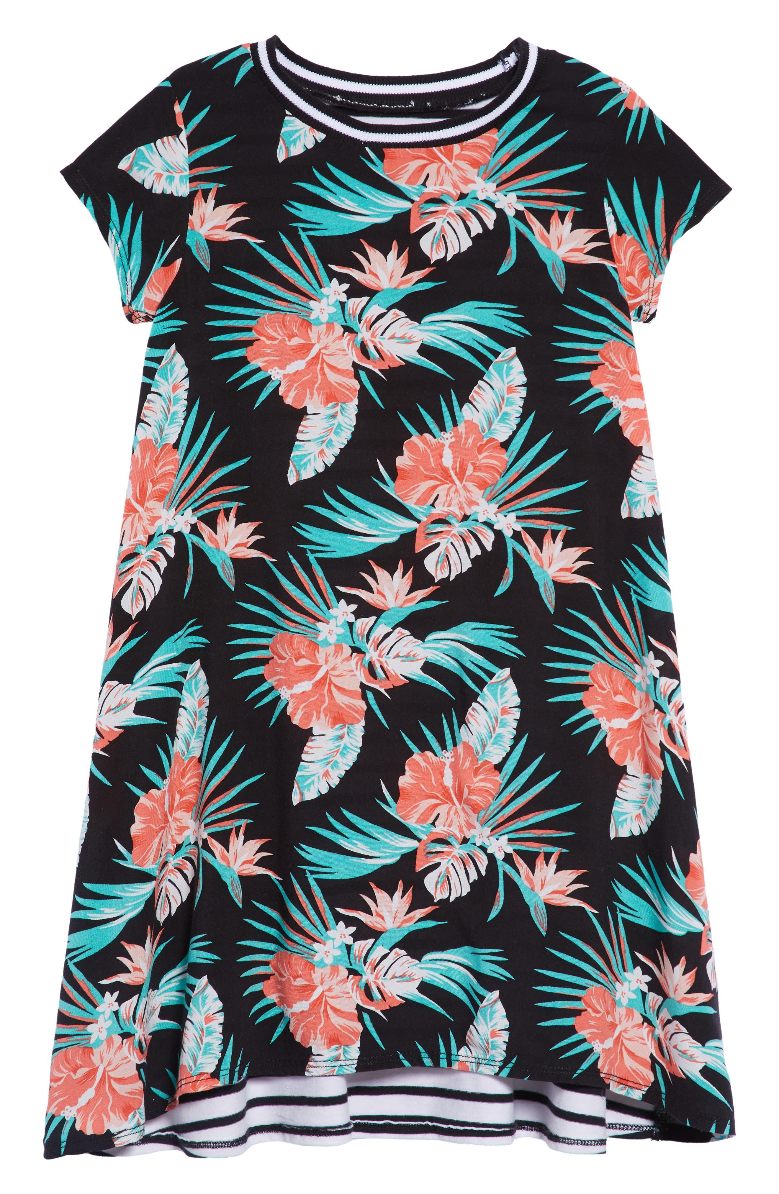 Tropical Stripe Shirtdress,                             Main thumbnail 1, color,                             001