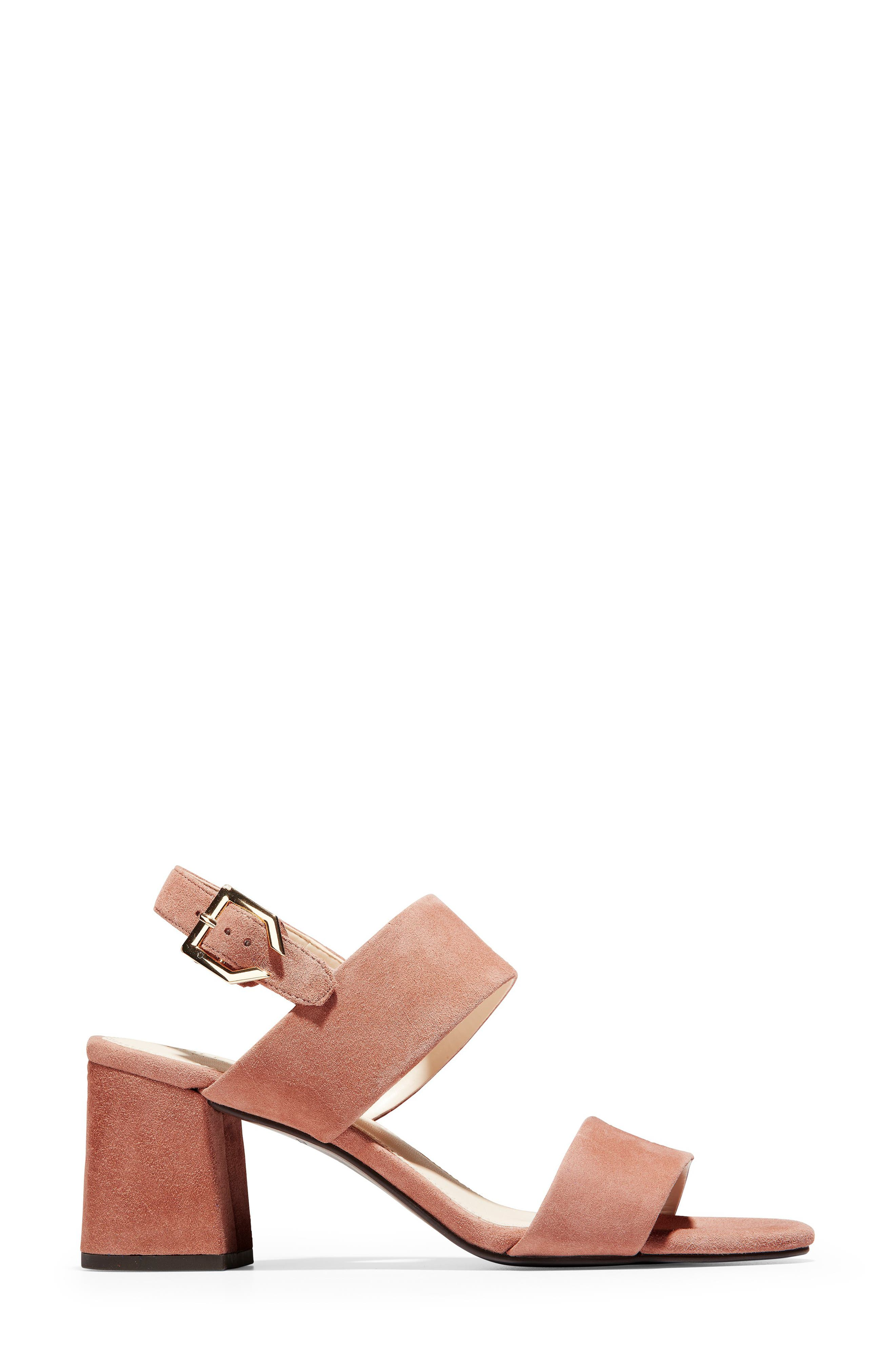Avani Block Heel Sandal,                             Alternate thumbnail 3, color,                             MOCHA MOUSSE SUEDE