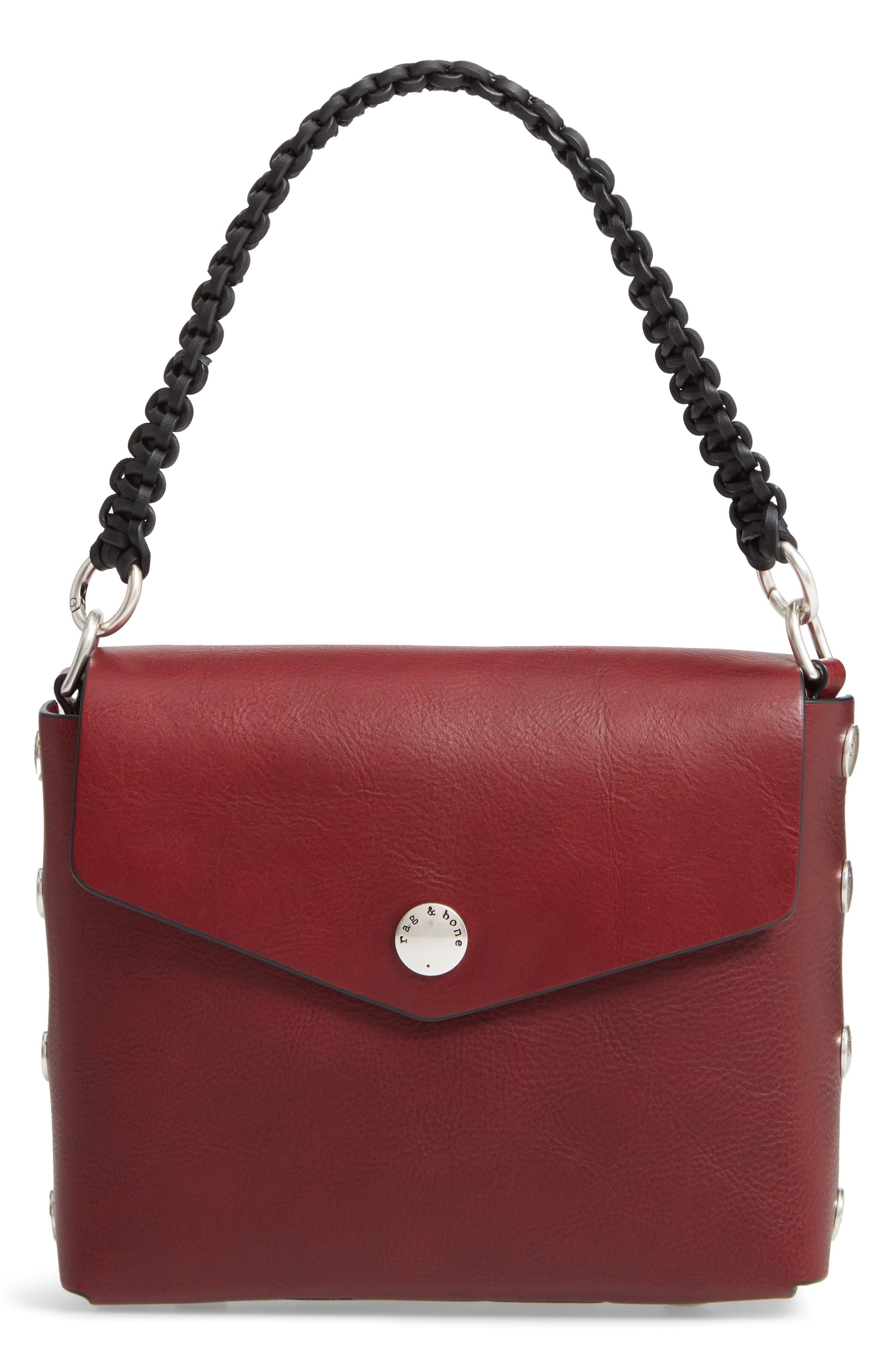 Atlas Concept Leather Shoulder Bag - Red