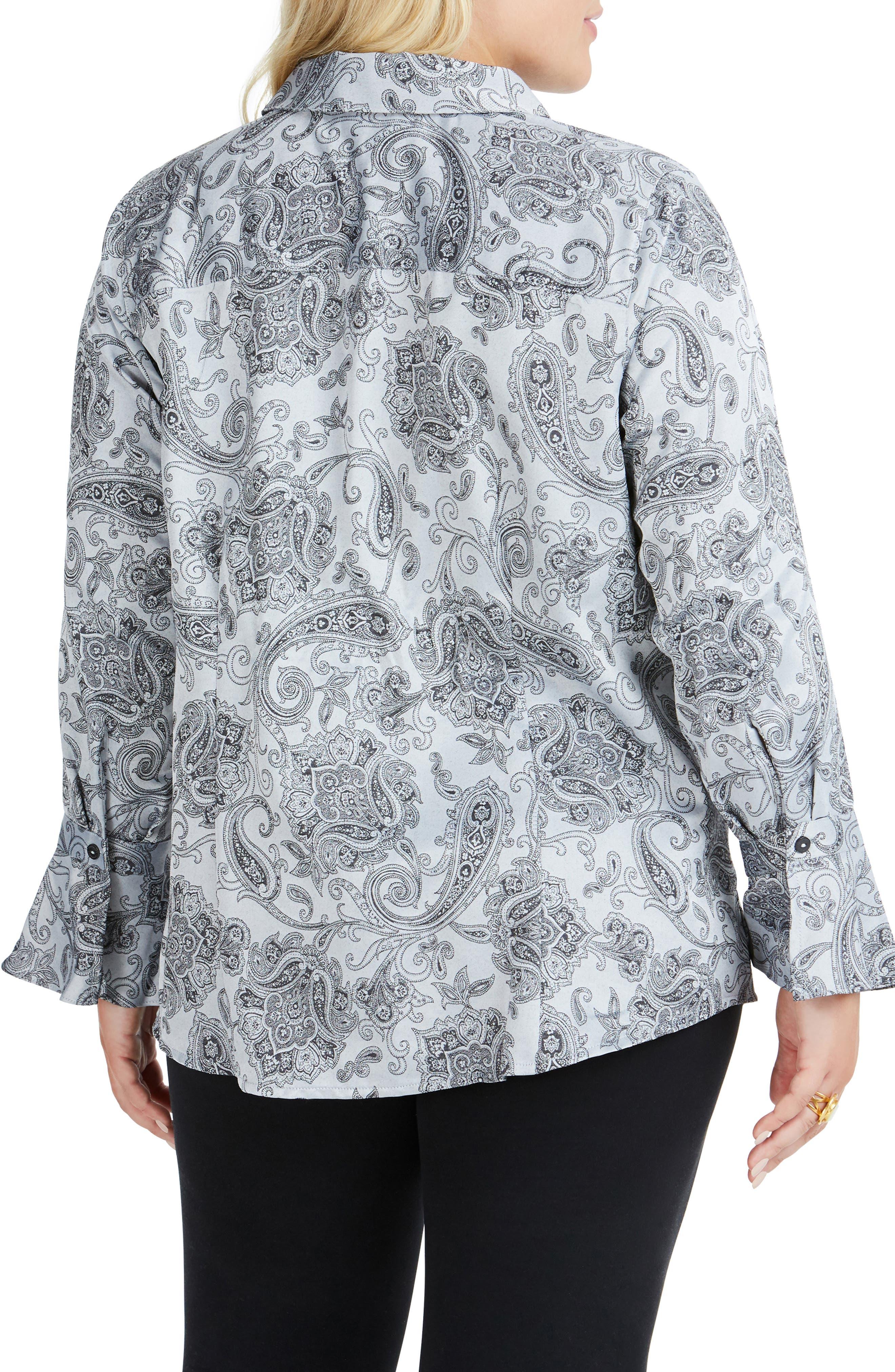 Ellery Paisley Jacquard Shirt,                             Alternate thumbnail 2, color,                             STERLING