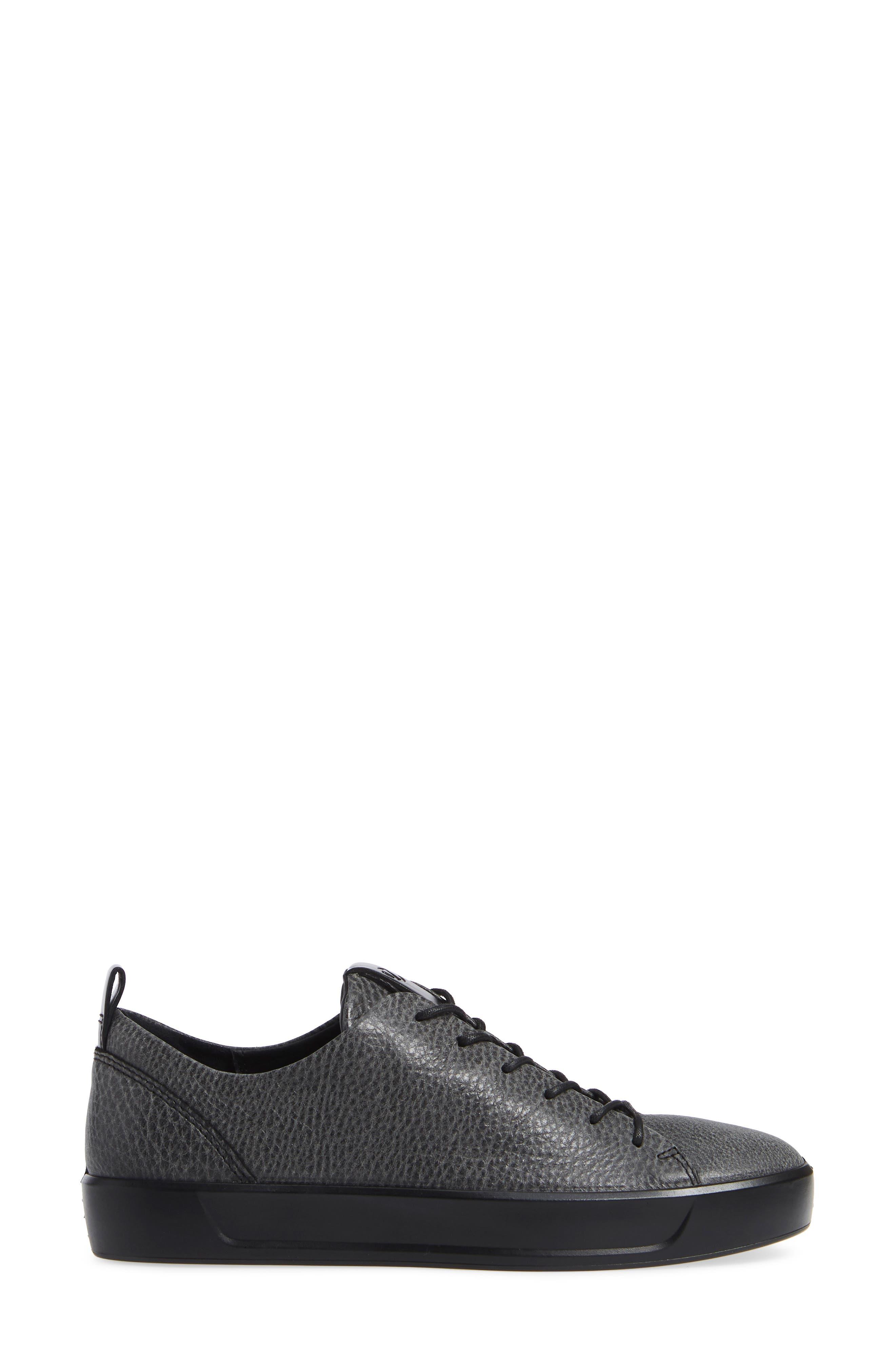 Soft 8 Sneaker,                             Alternate thumbnail 3, color,                             BLACK/ BLACK LEATHER