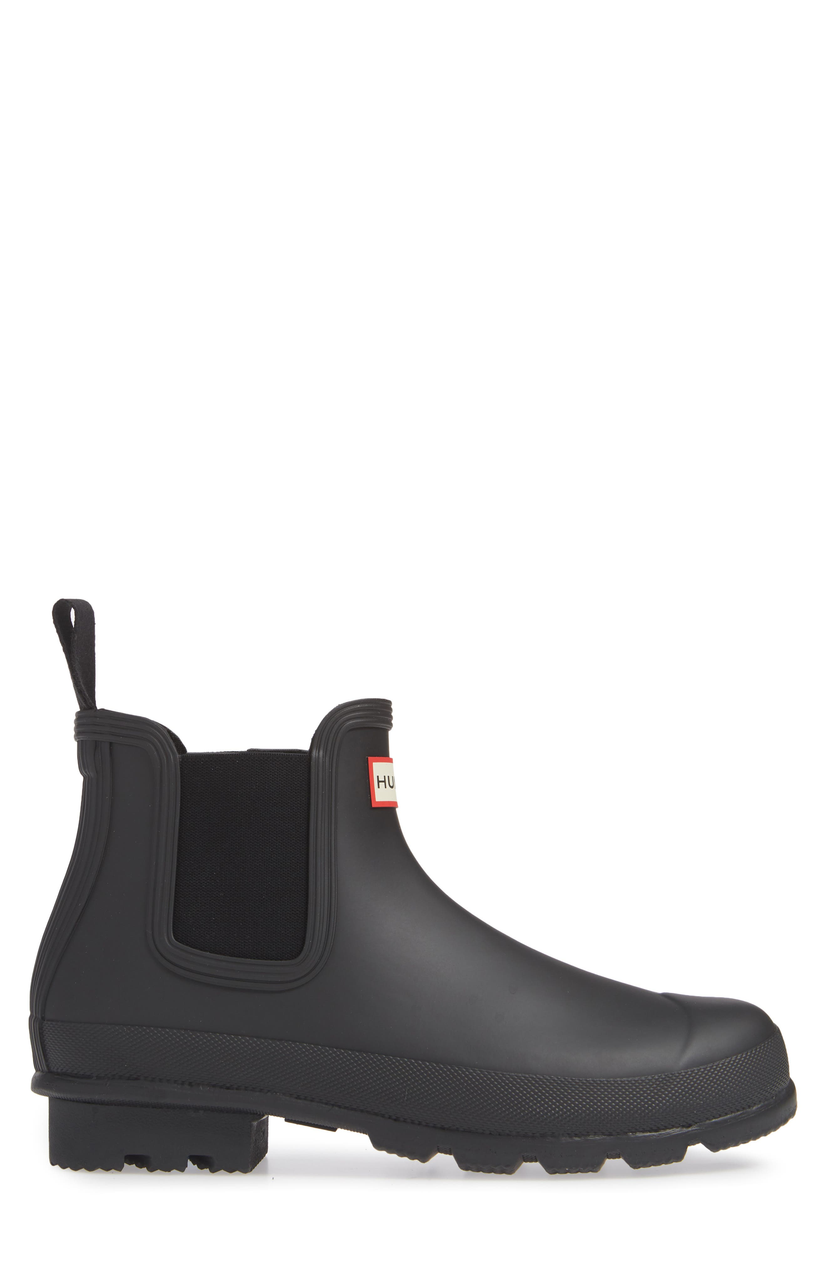 HUNTER,                             'Original' Waterproof Chelsea Rain Boot,                             Alternate thumbnail 3, color,                             002