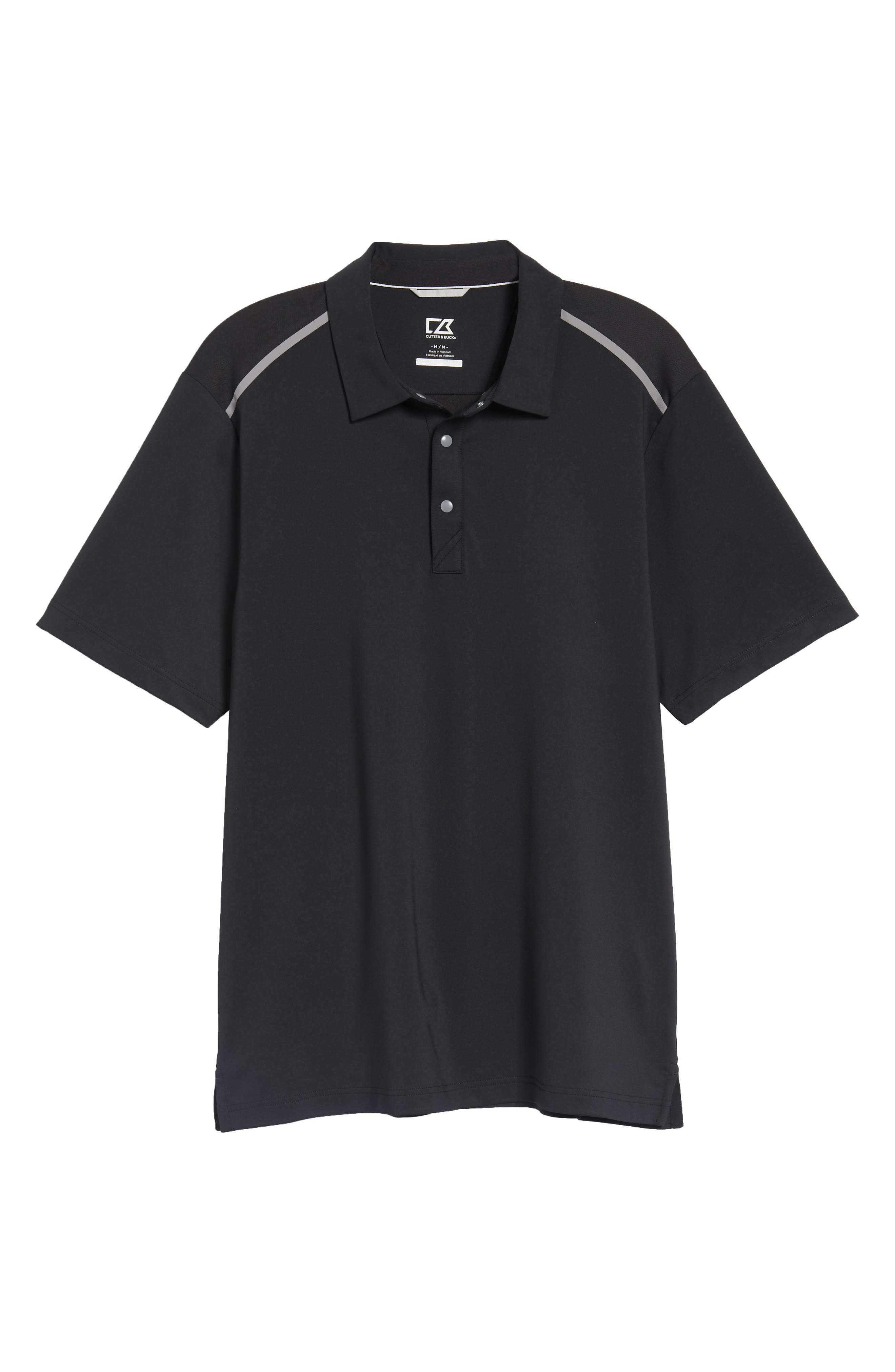 Fusion Classic Fit Polo,                             Alternate thumbnail 6, color,                             BLACK