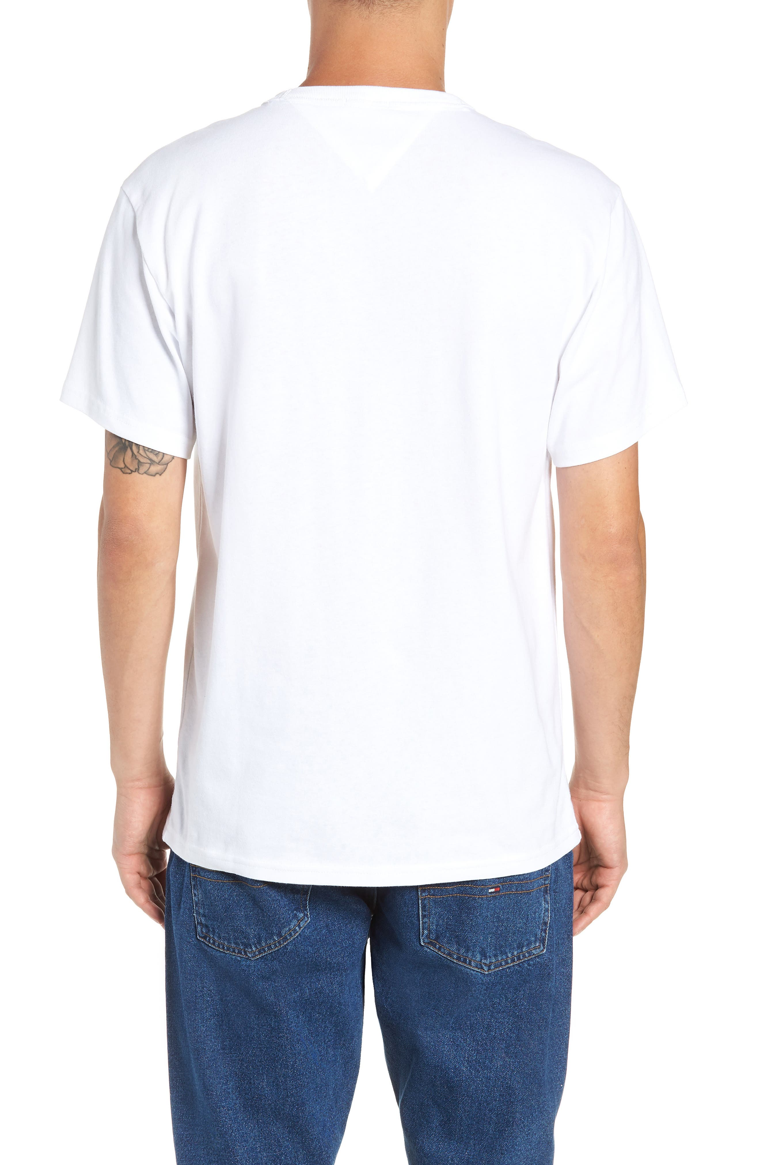 TOMMY JEANS,                             Essential Graphic T-Shirt,                             Alternate thumbnail 2, color,                             100