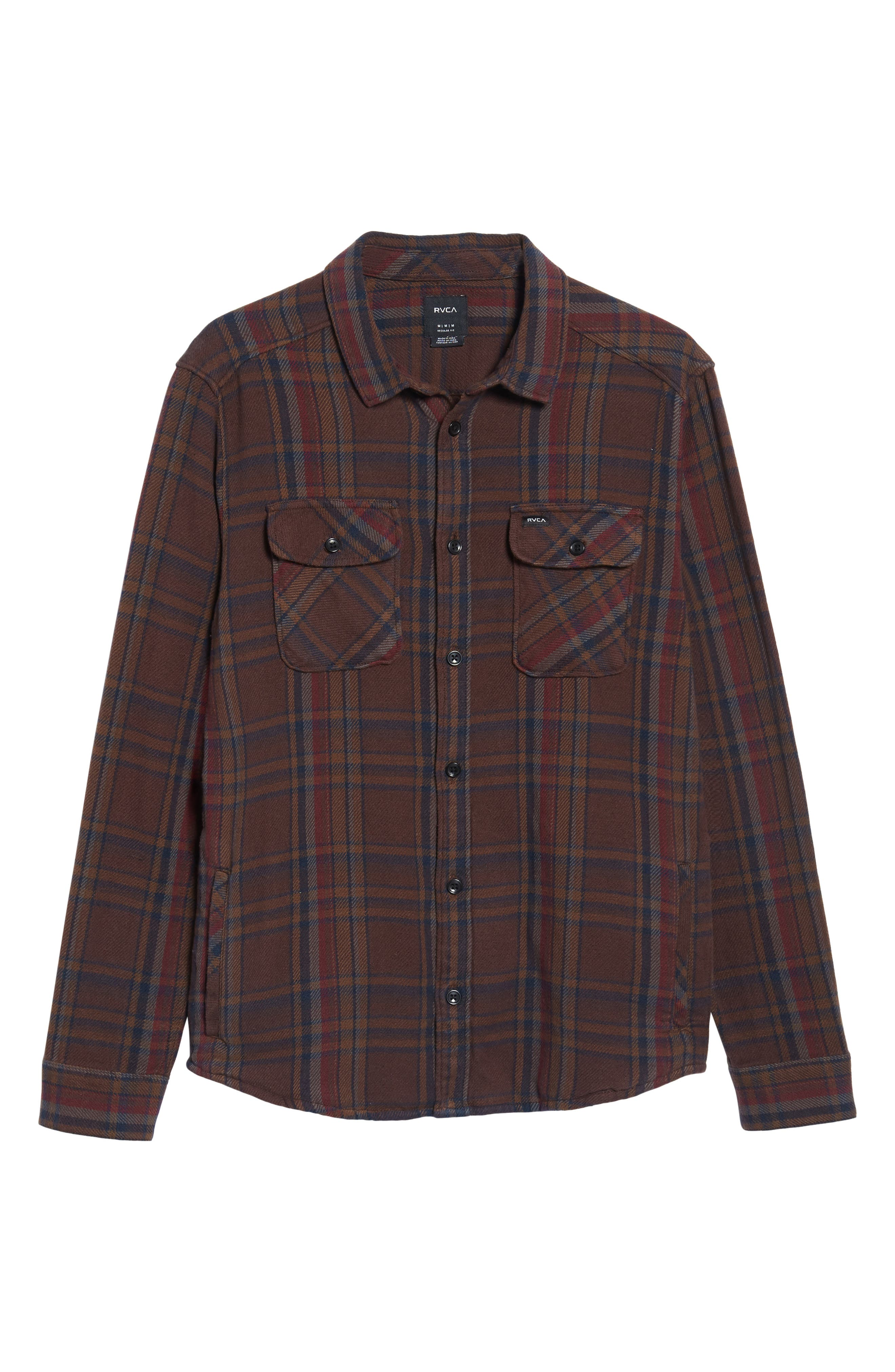 Camino Flannel Shirt,                             Alternate thumbnail 6, color,                             203