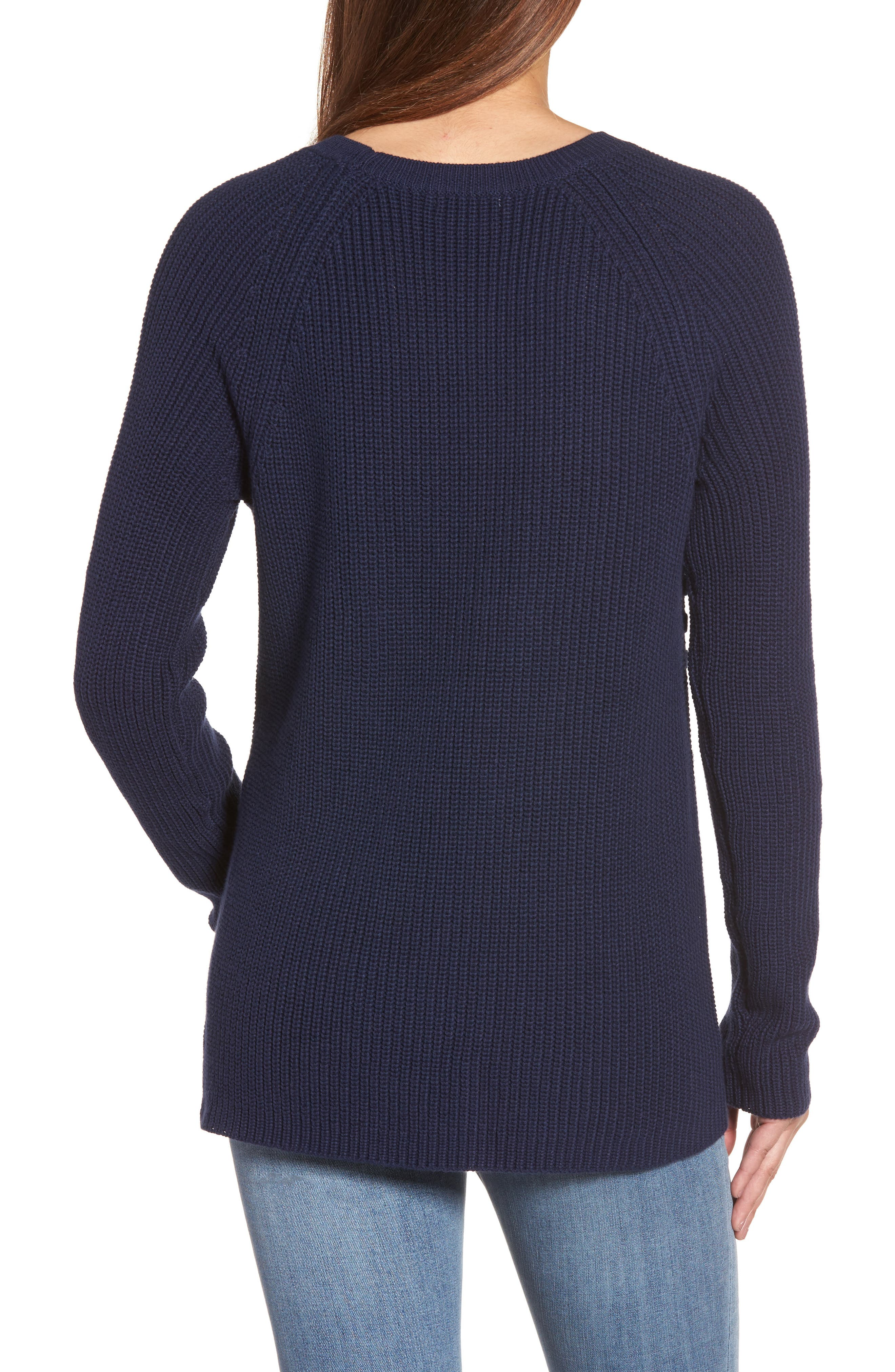 Lace-Up Sweater,                             Alternate thumbnail 2, color,                             410