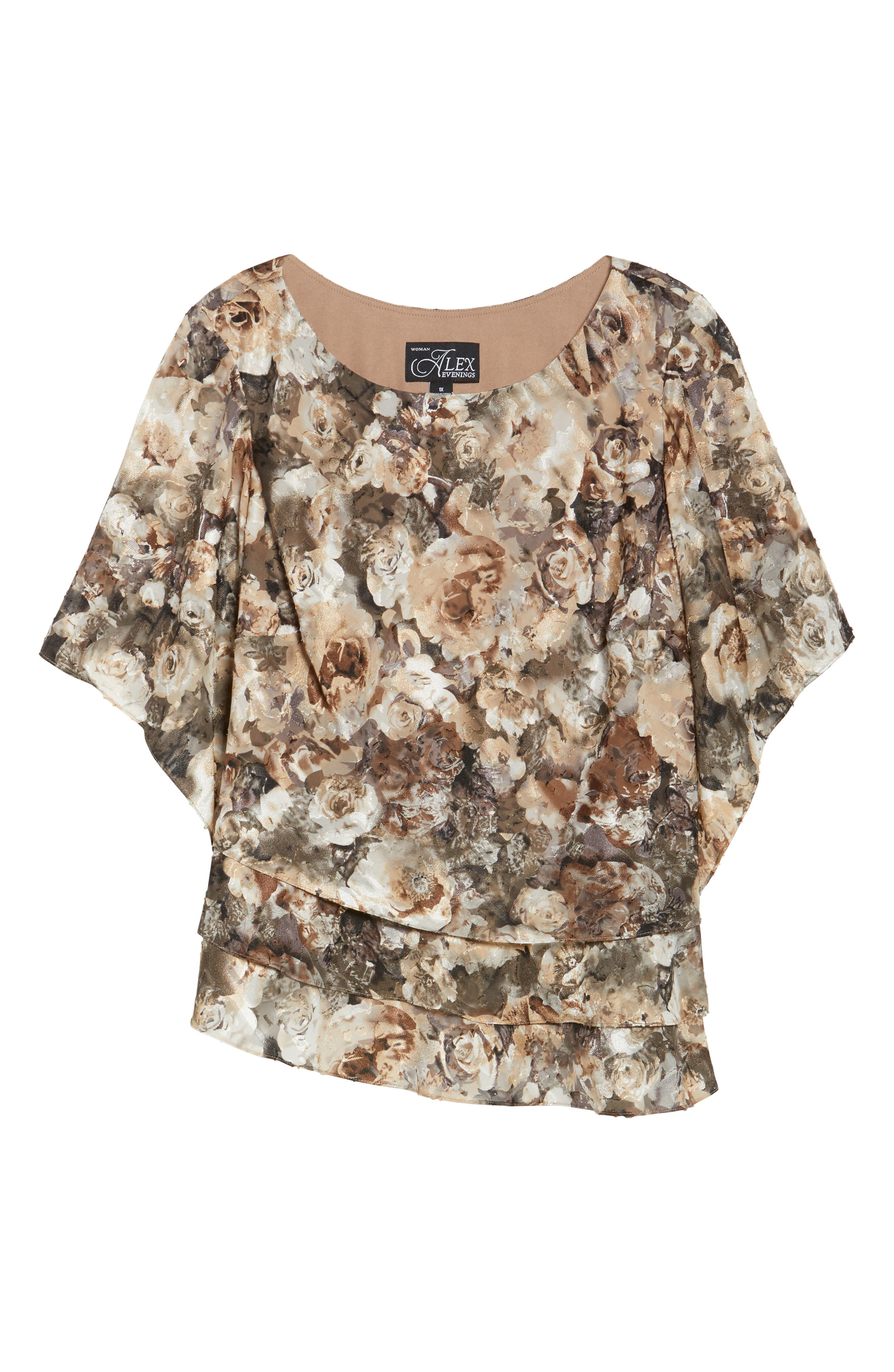 Tiered Chiffon Top,                             Alternate thumbnail 6, color,                             266