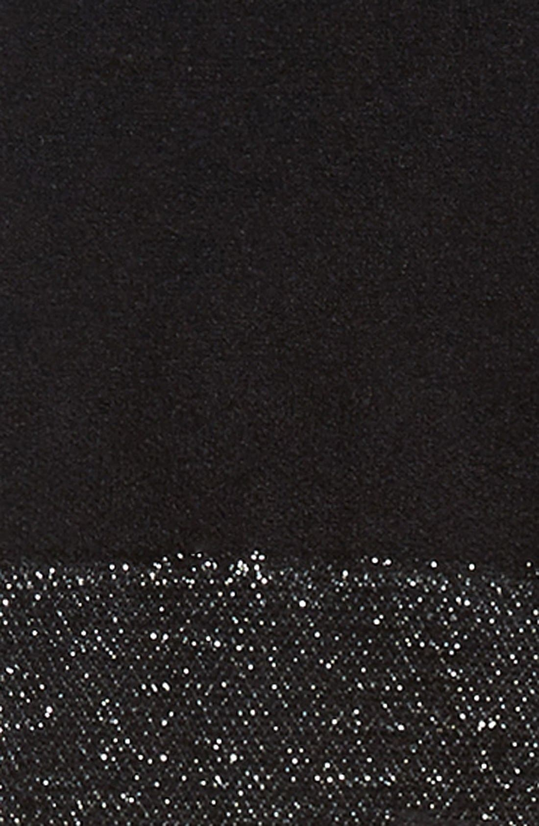 'Shine On' Tights,                             Alternate thumbnail 2, color,                             BLACK