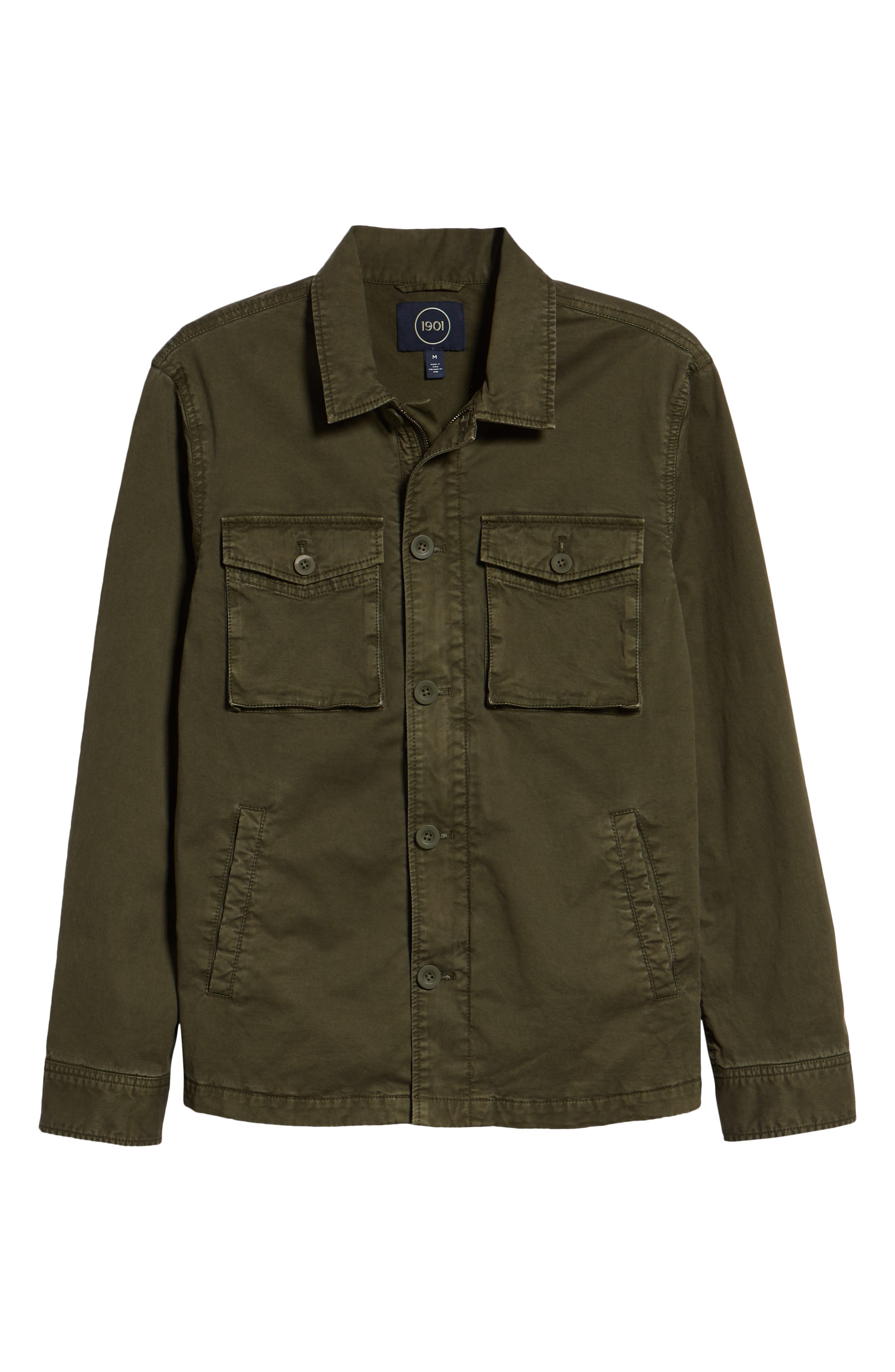 Regular Fit Military Jacket,                             Alternate thumbnail 6, color,                             GREEN FOREST