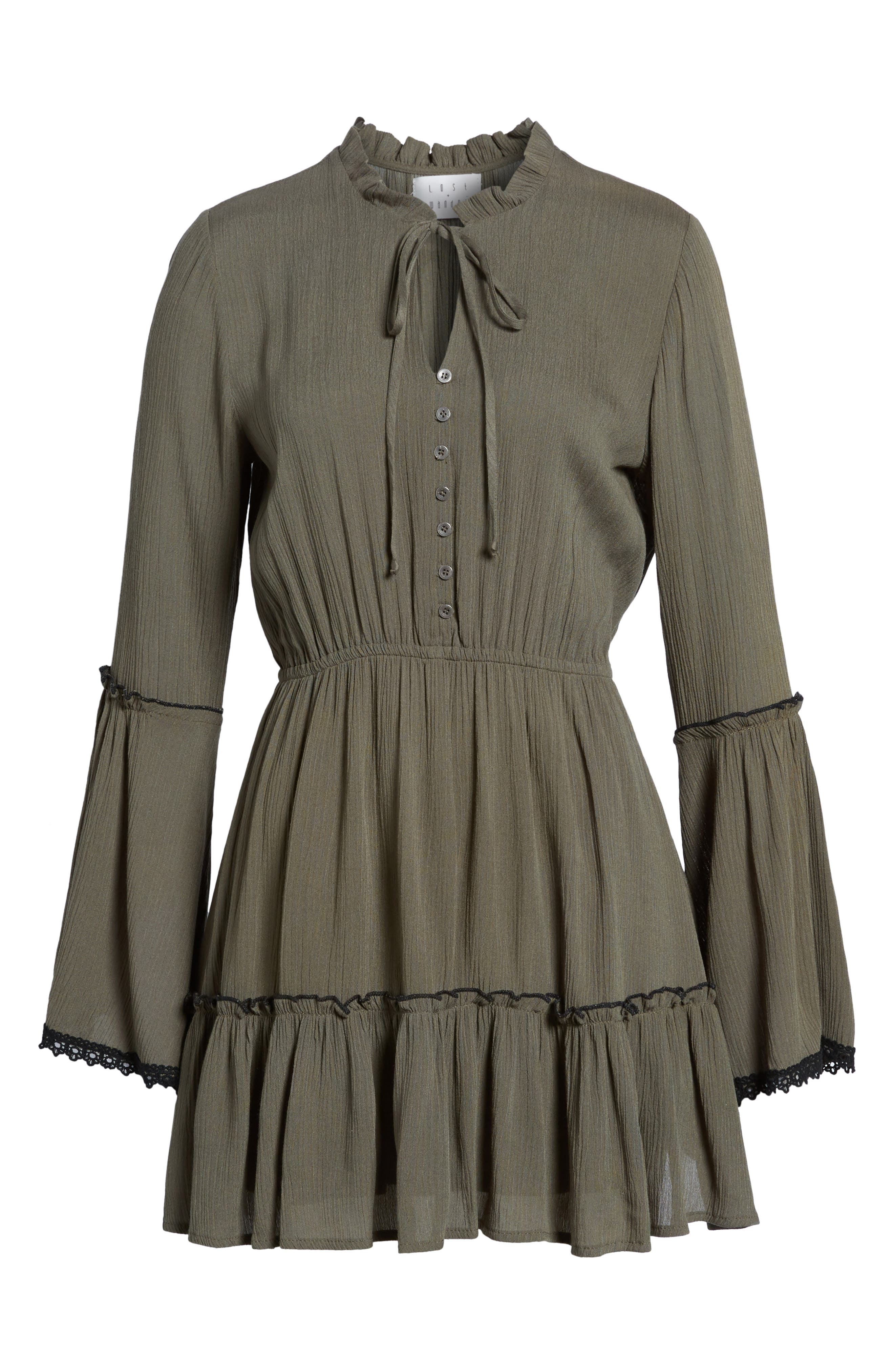 Olivia Bell Sleeve Dress,                             Alternate thumbnail 6, color,
