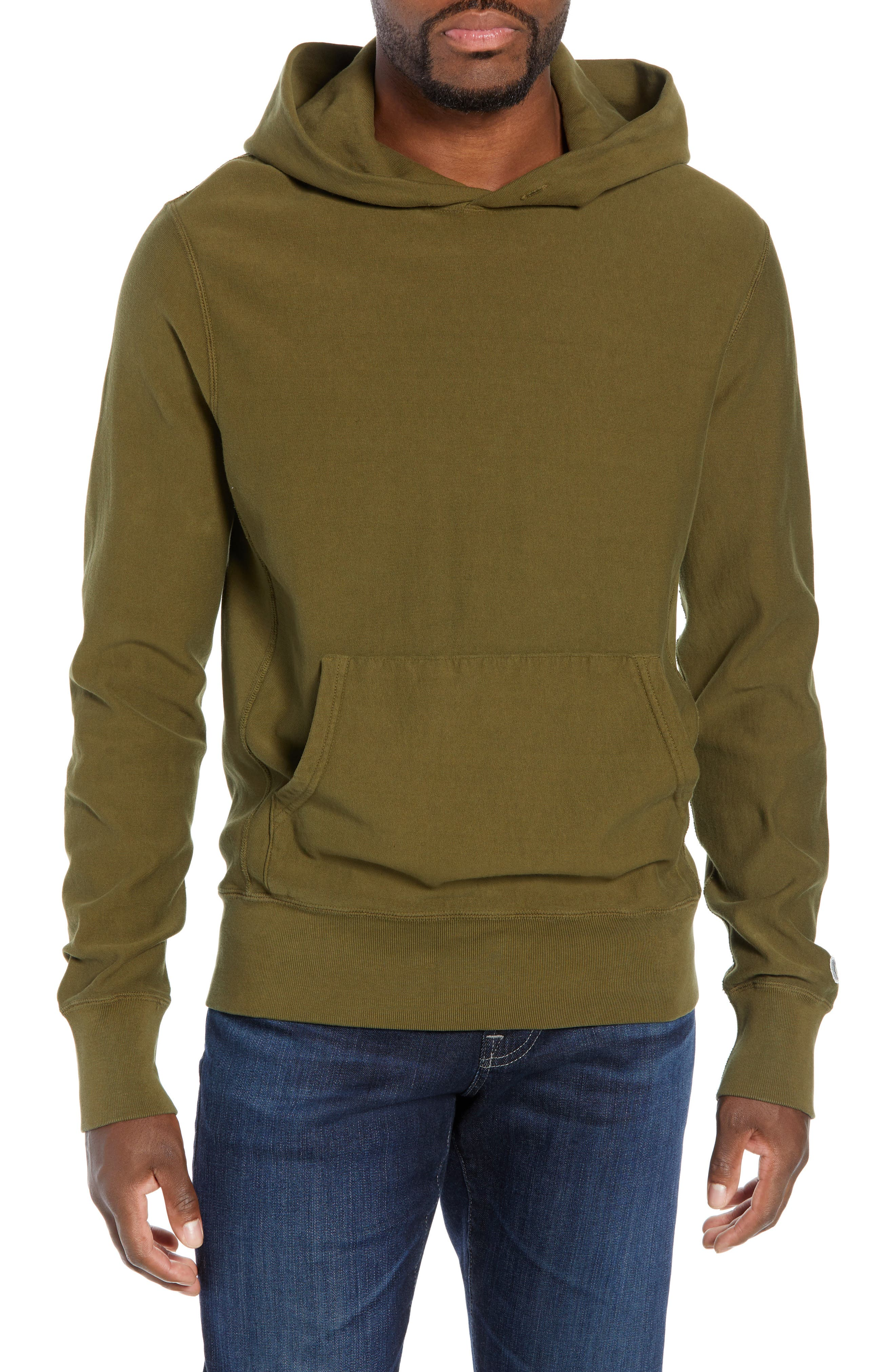 Popover Hoodie,                         Main,                         color, OLIVE