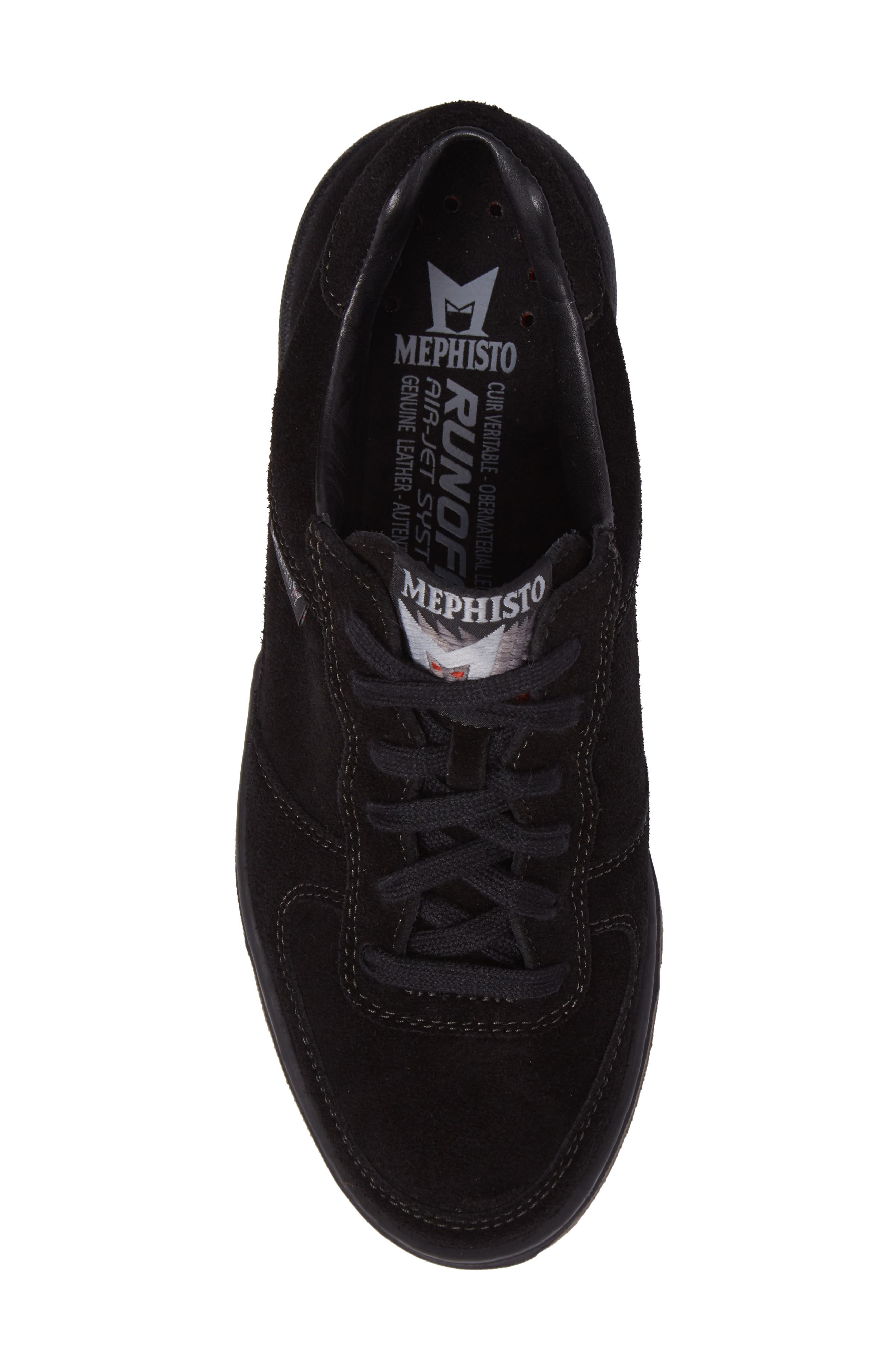 Nykita Sneaker,                             Alternate thumbnail 5, color,                             BLACK SUEDE
